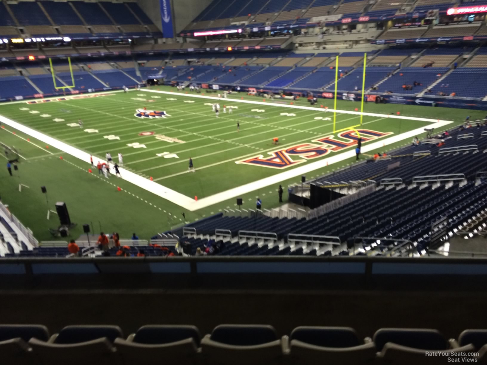 Football Seat View for Alamodome Section 227, Row 5