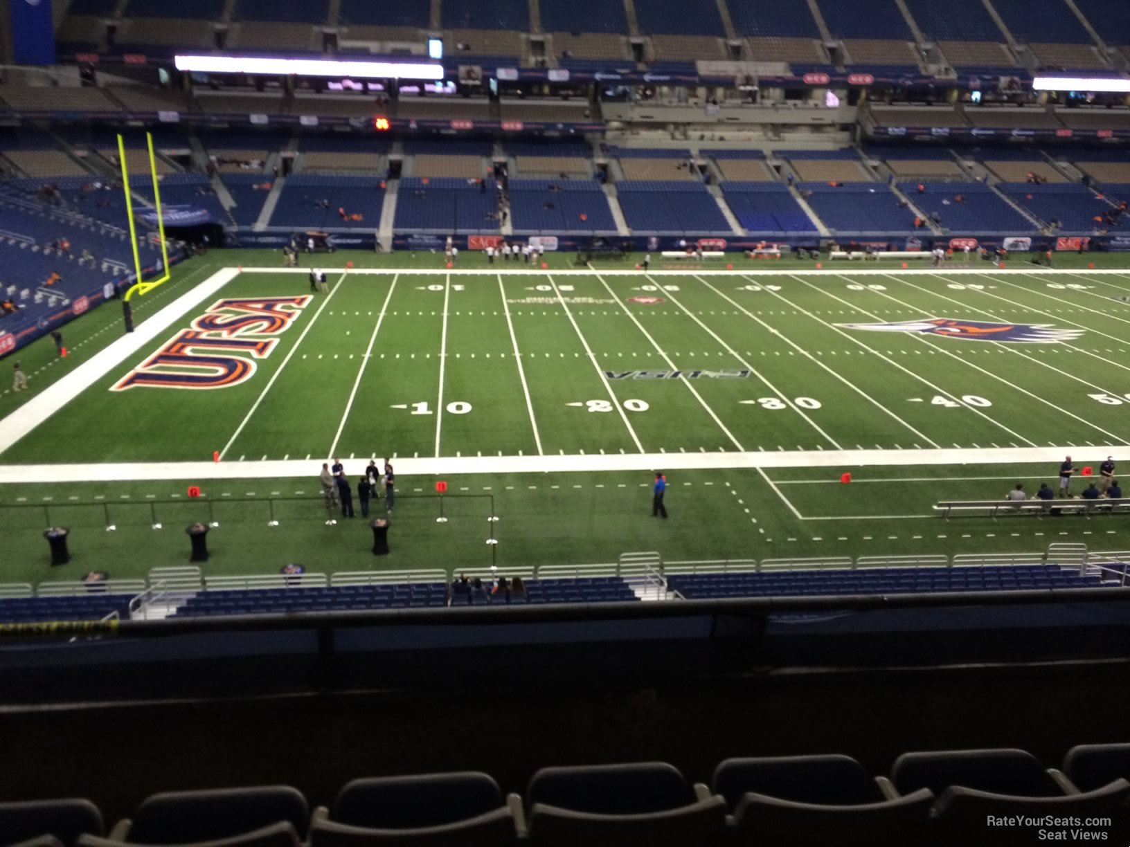 UTSA Roadrunners Seat View for Alamodome Section 237, Row 5