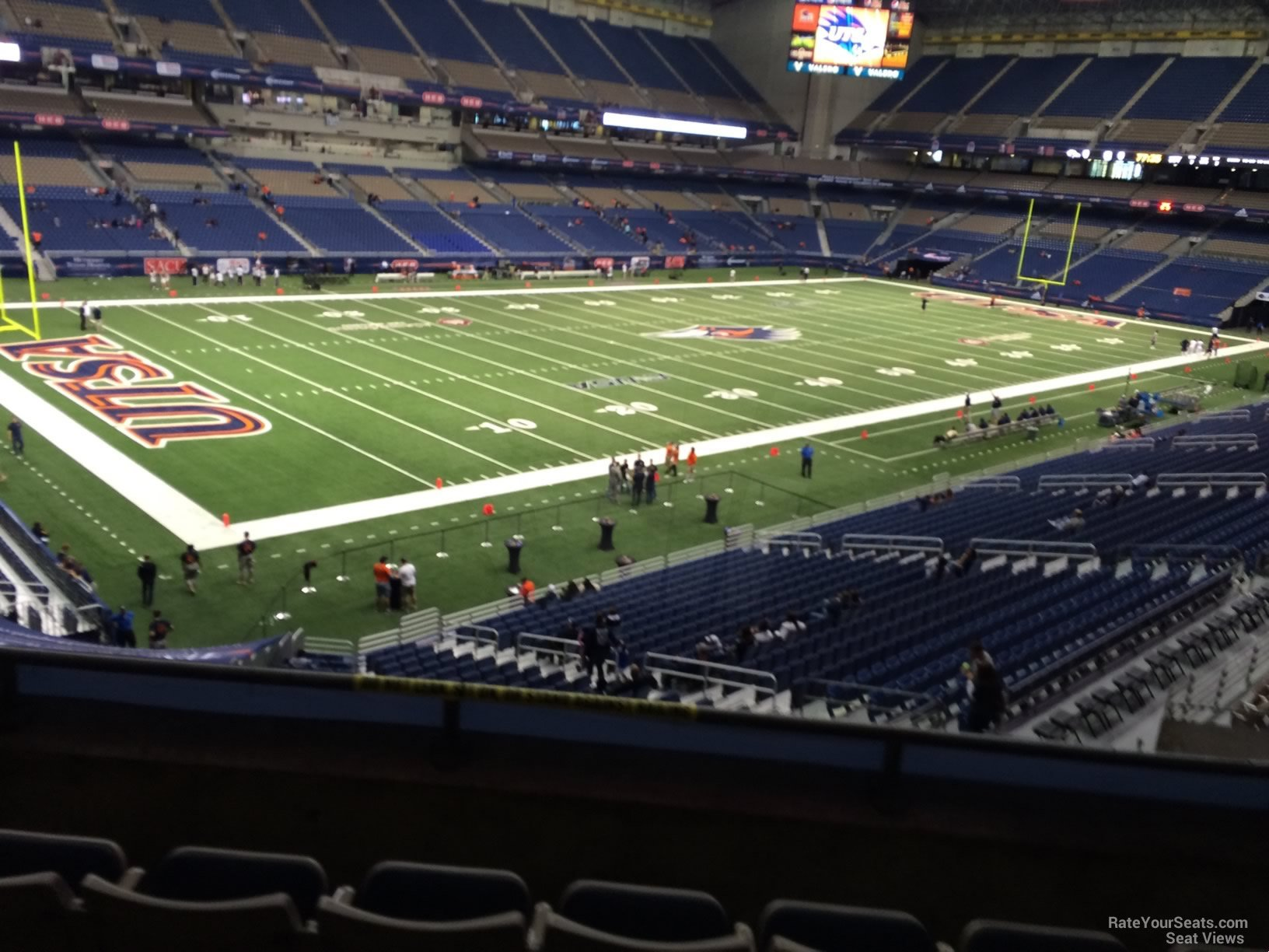 UTSA Roadrunners Seat View for Alamodome Section 240, Row 5