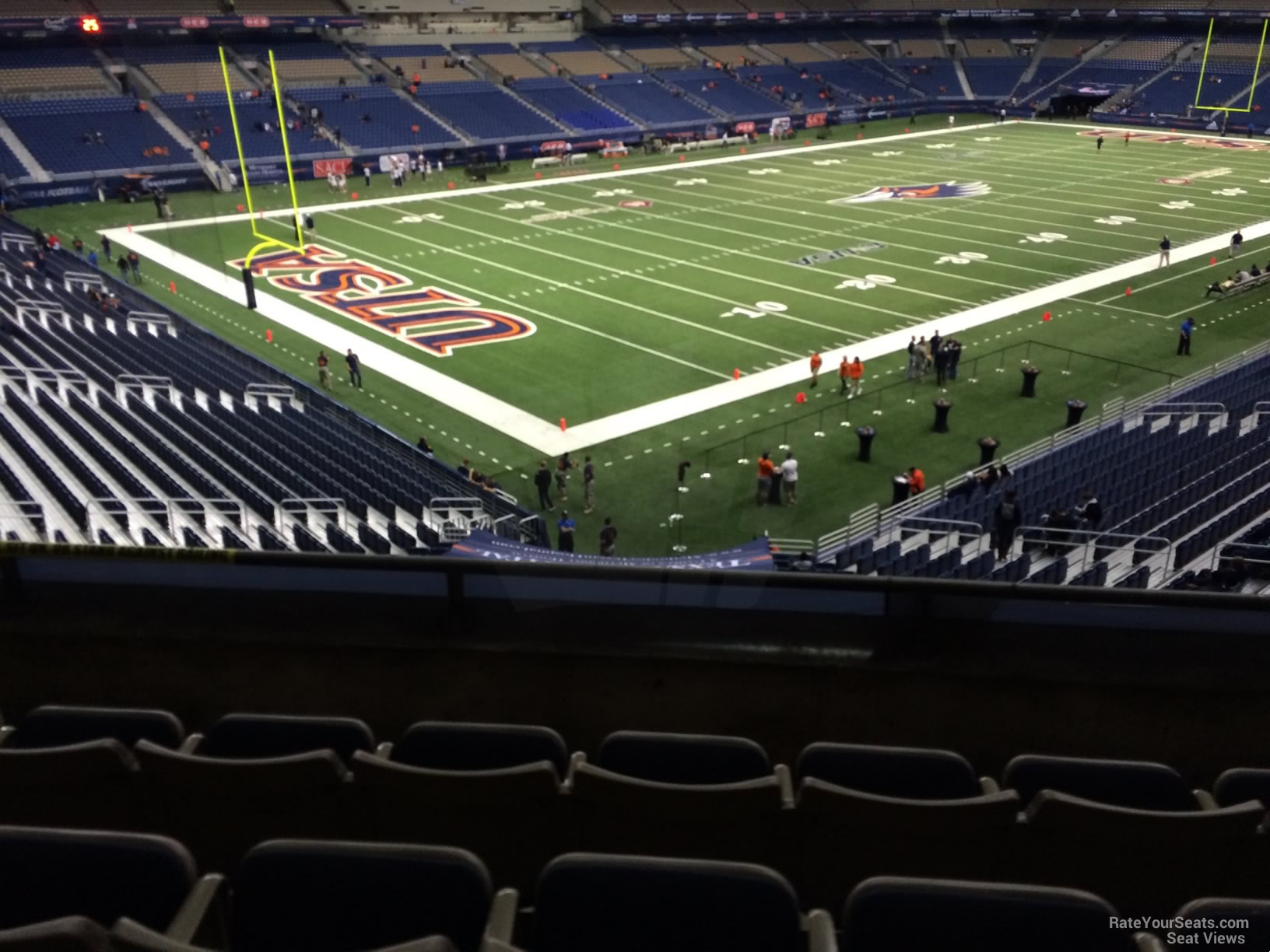 Football Seat View for Alamodome Section 240D, Row 5