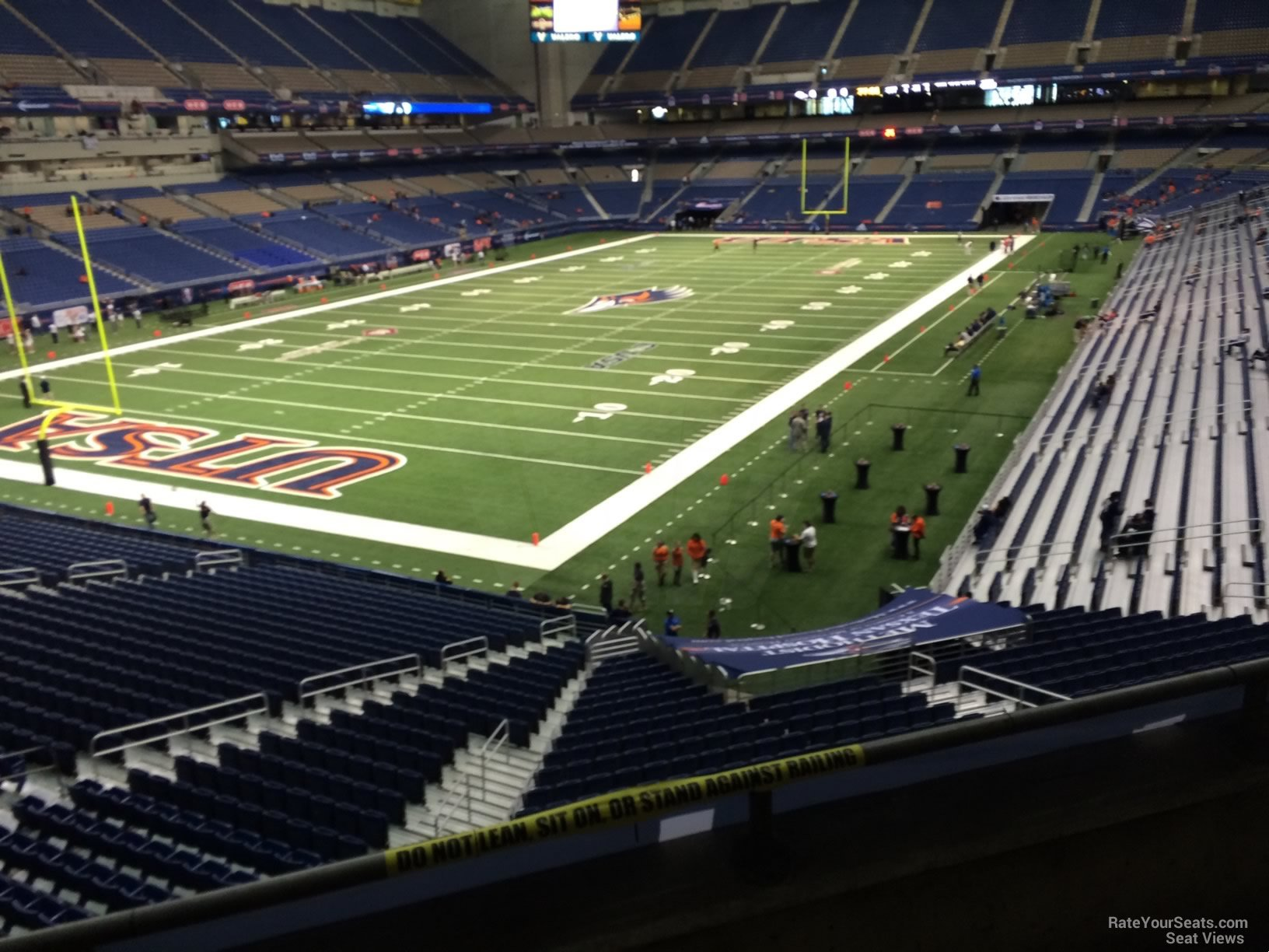 UTSA Roadrunners Seat View for Alamodome Section 241, Row 5