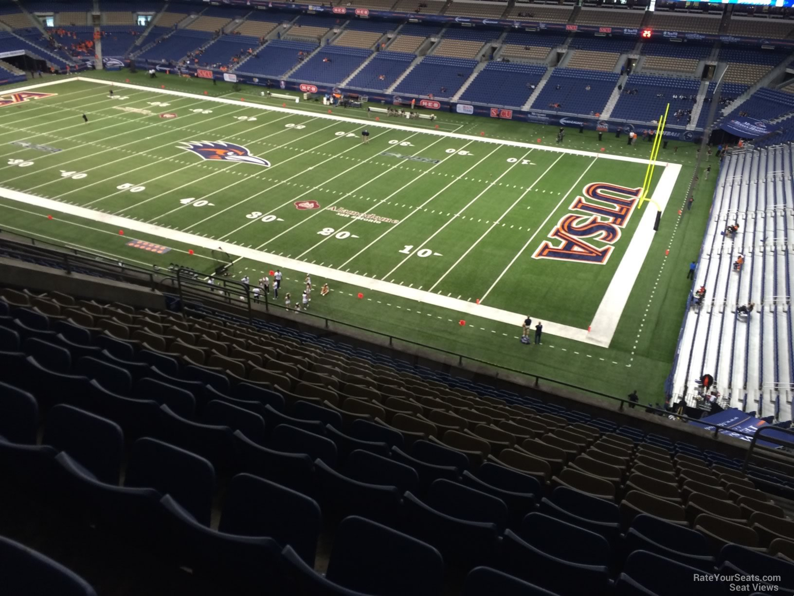 UTSA Roadrunners Seat View for Alamodome Section 308, Row 15