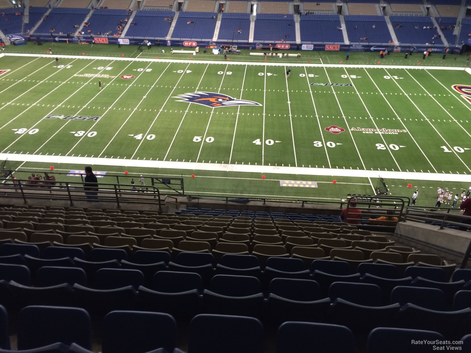UTSA Roadrunners Seat View for Alamodome Section 312, Row 15