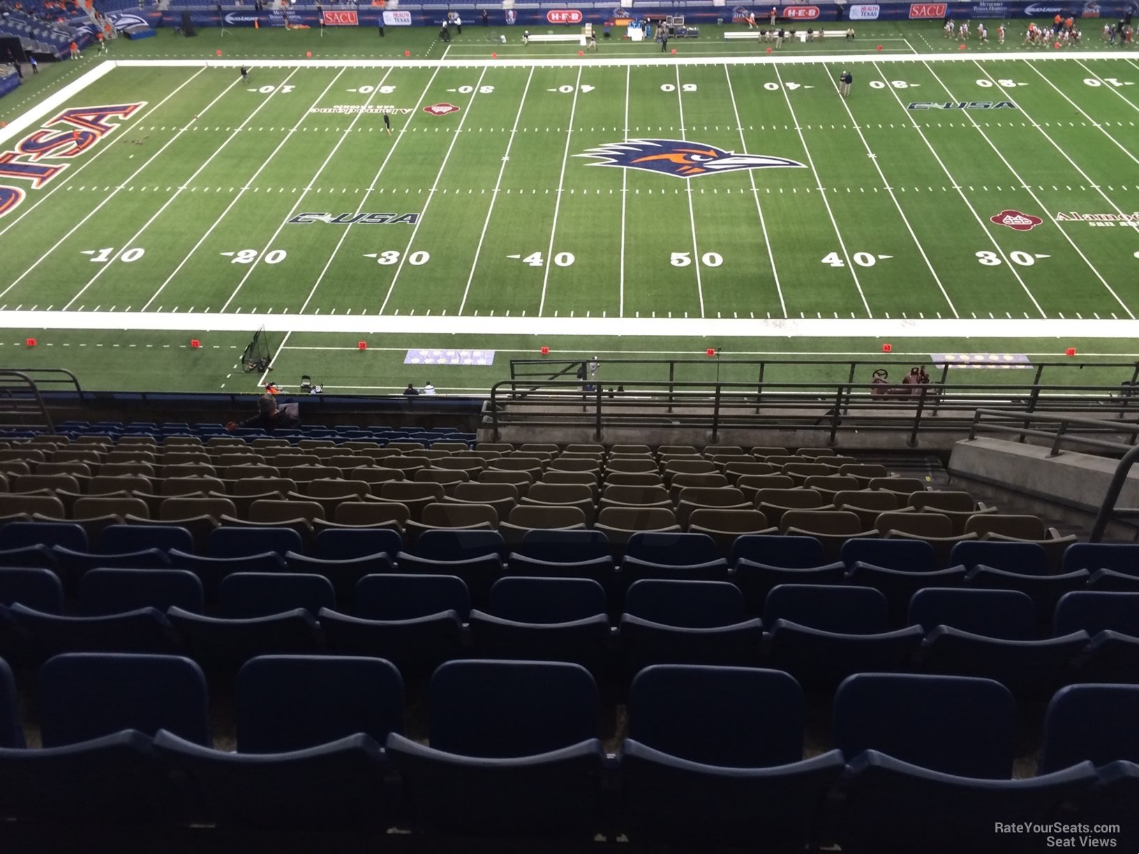 UTSA Roadrunners Seat View for Alamodome Section 313, Row 15