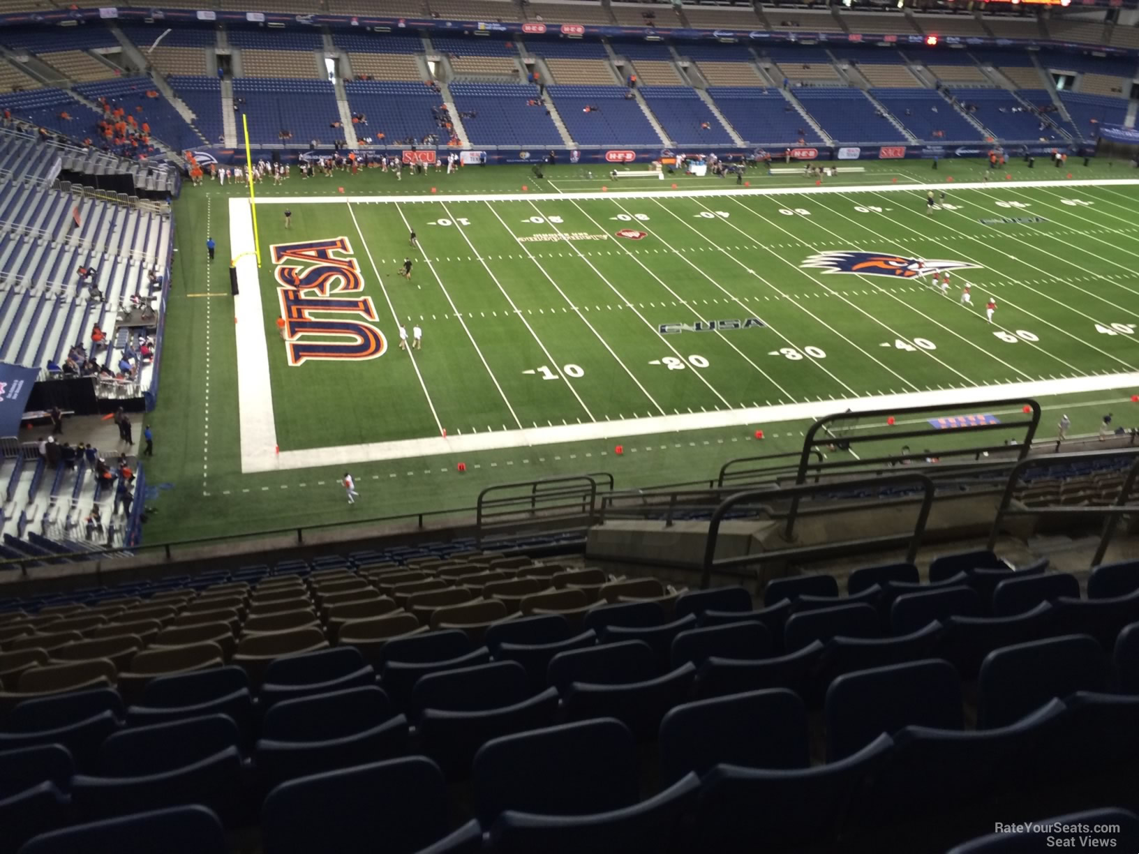 UTSA Roadrunners Seat View for Alamodome Section 317, Row 15