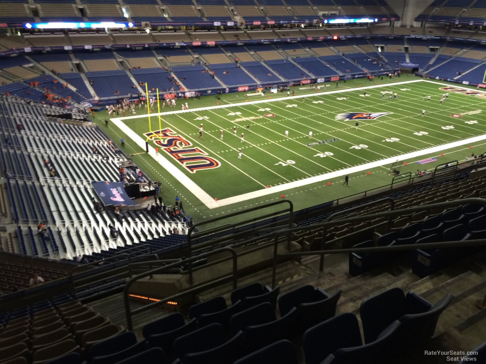 UTSA Roadrunners Seat View for Alamodome Section 319, Row 15