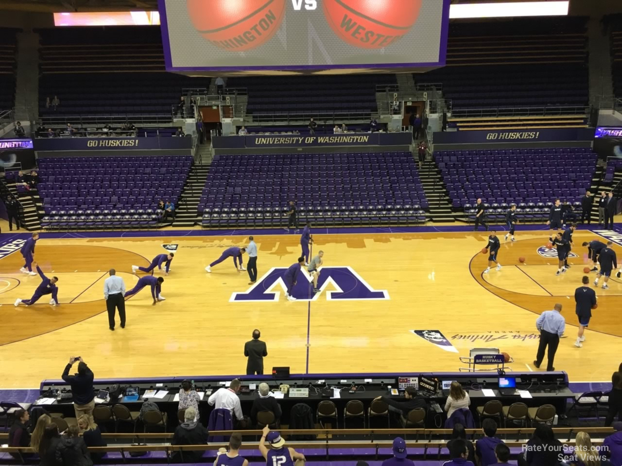 Seat View for Alaska Airlines Arena Section 1, Row 10