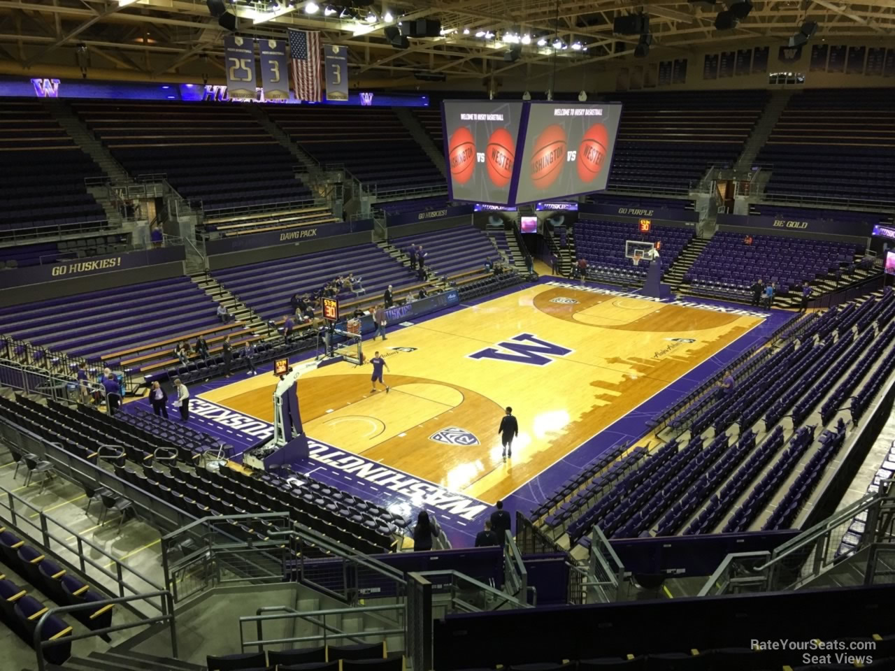 Seat View for Alaska Airlines Arena Section 10, Row 24