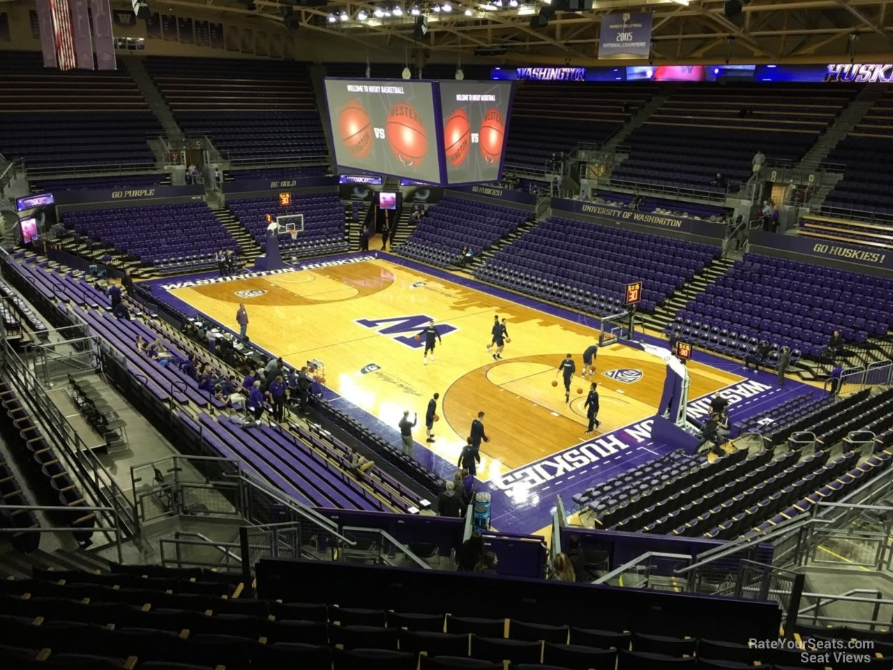 Seat View for Alaska Airlines Arena Section 13, Row 24