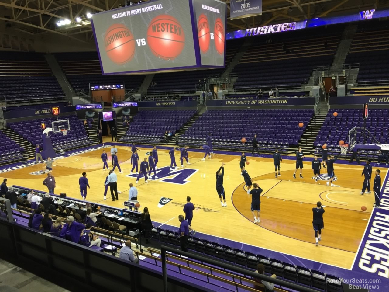 Seat View for Alaska Airlines Arena Section 14, Row 10