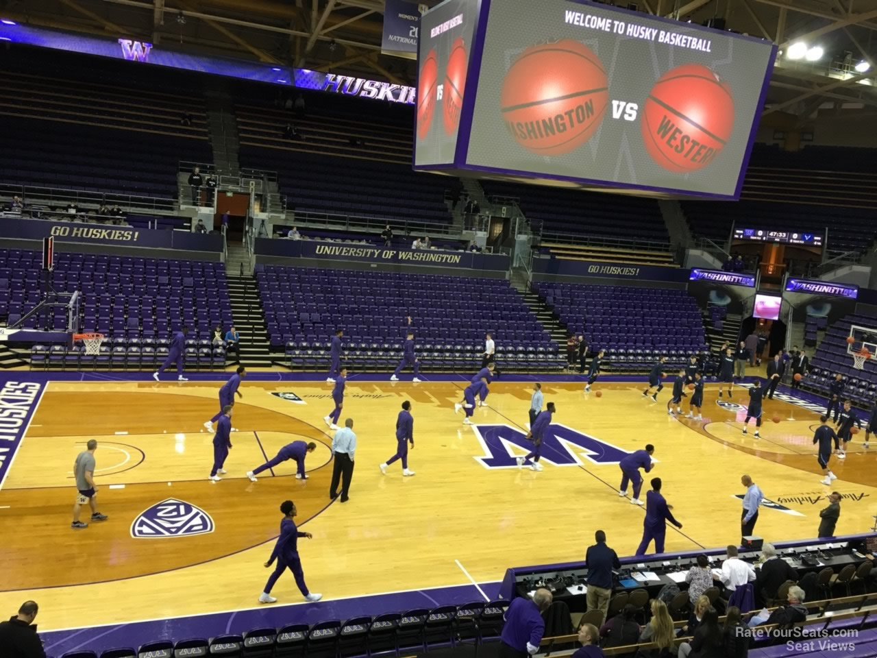 Seat View for Alaska Airlines Arena Section 2, Row 10