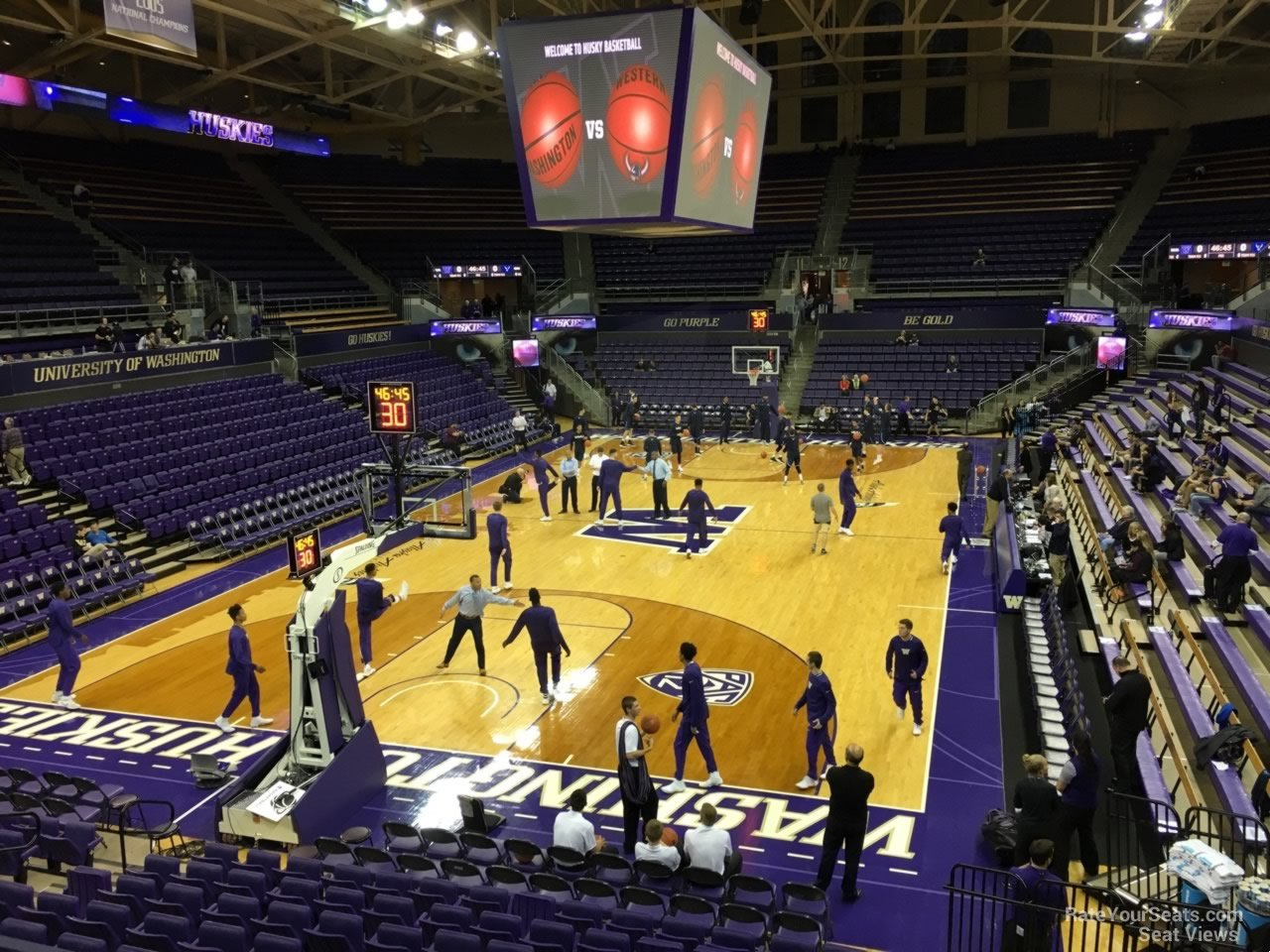 Seat View for Alaska Airlines Arena Section 4, Row 10
