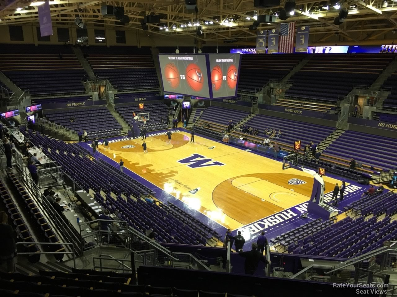 Seat View for Alaska Airlines Arena Section 6, Row 24