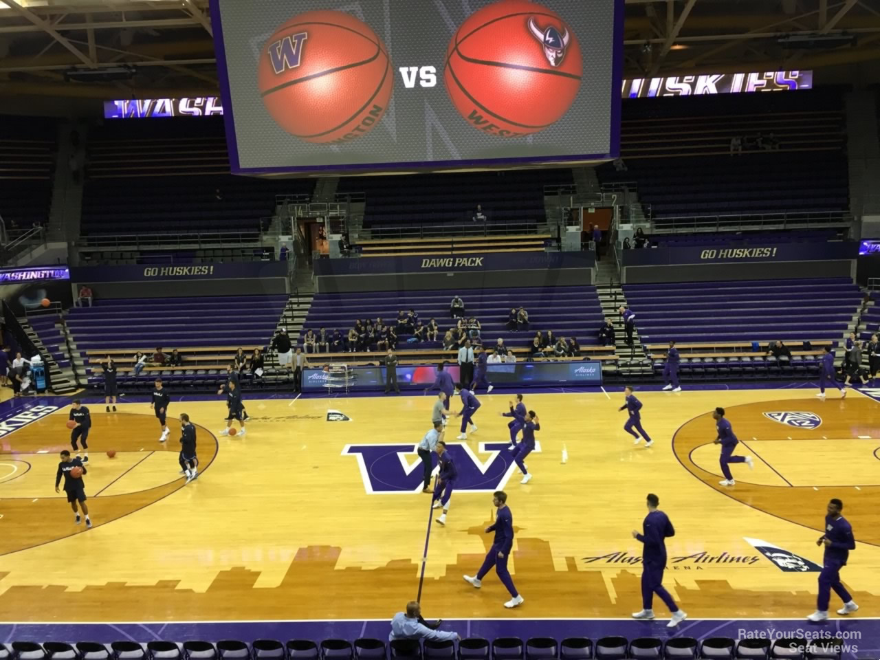 Seat View for Alaska Airlines Arena Section 8, Row 10