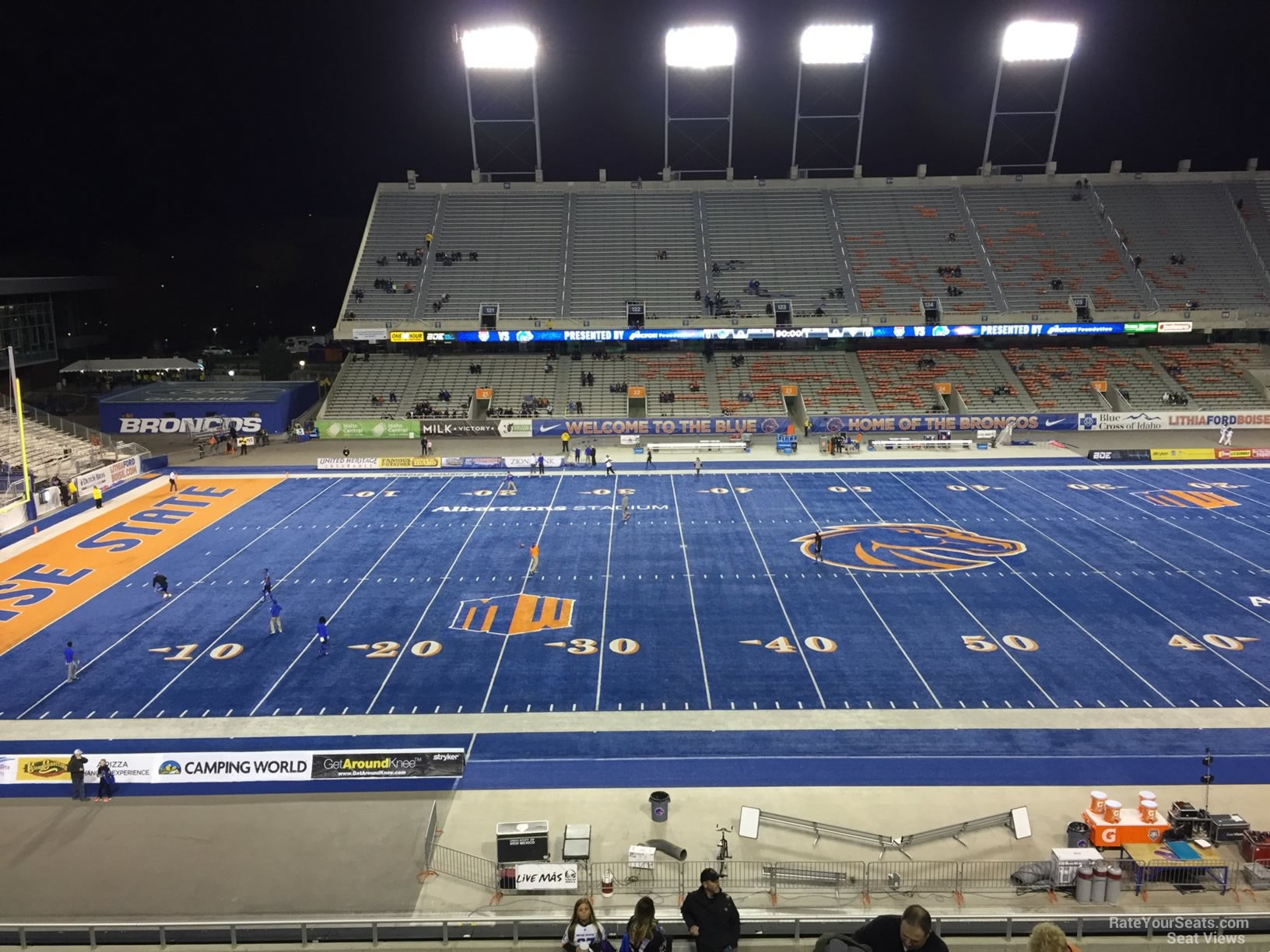 Seat View for Bronco Stadium Section 109, Row L