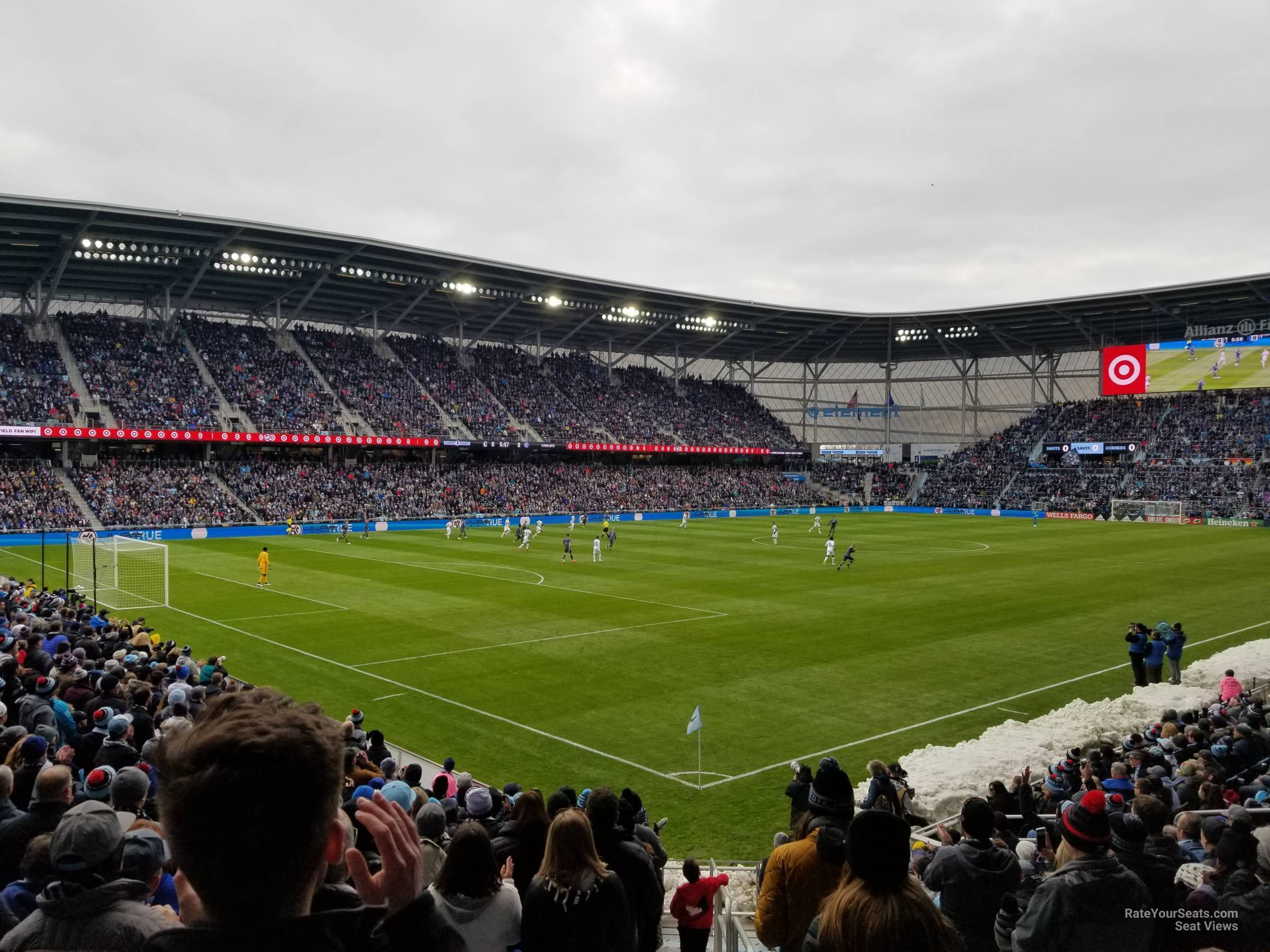 Seat View for Allianz Field Section 1, Row 18