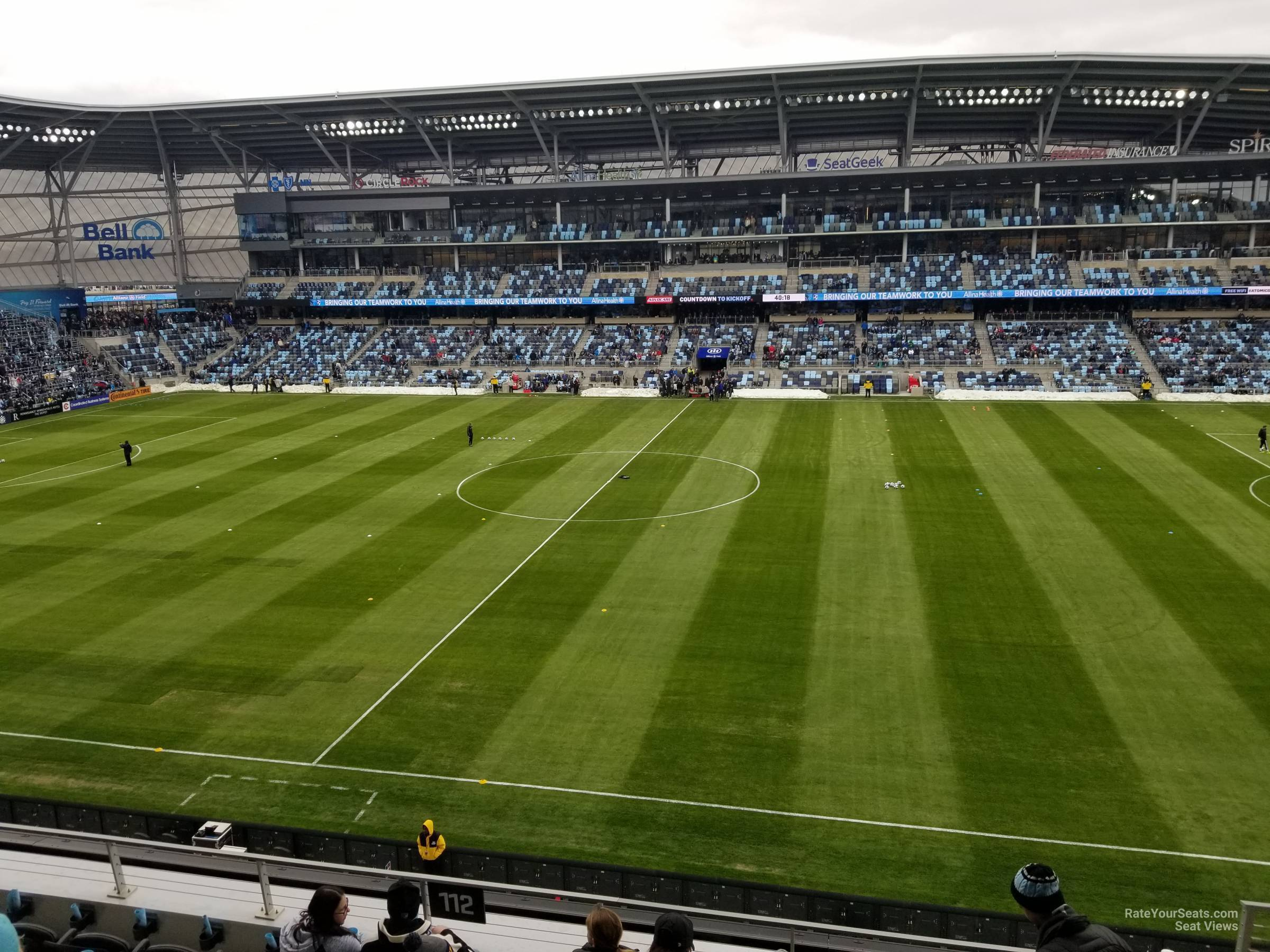 Seat View for Allianz Field Section 112, Row 7