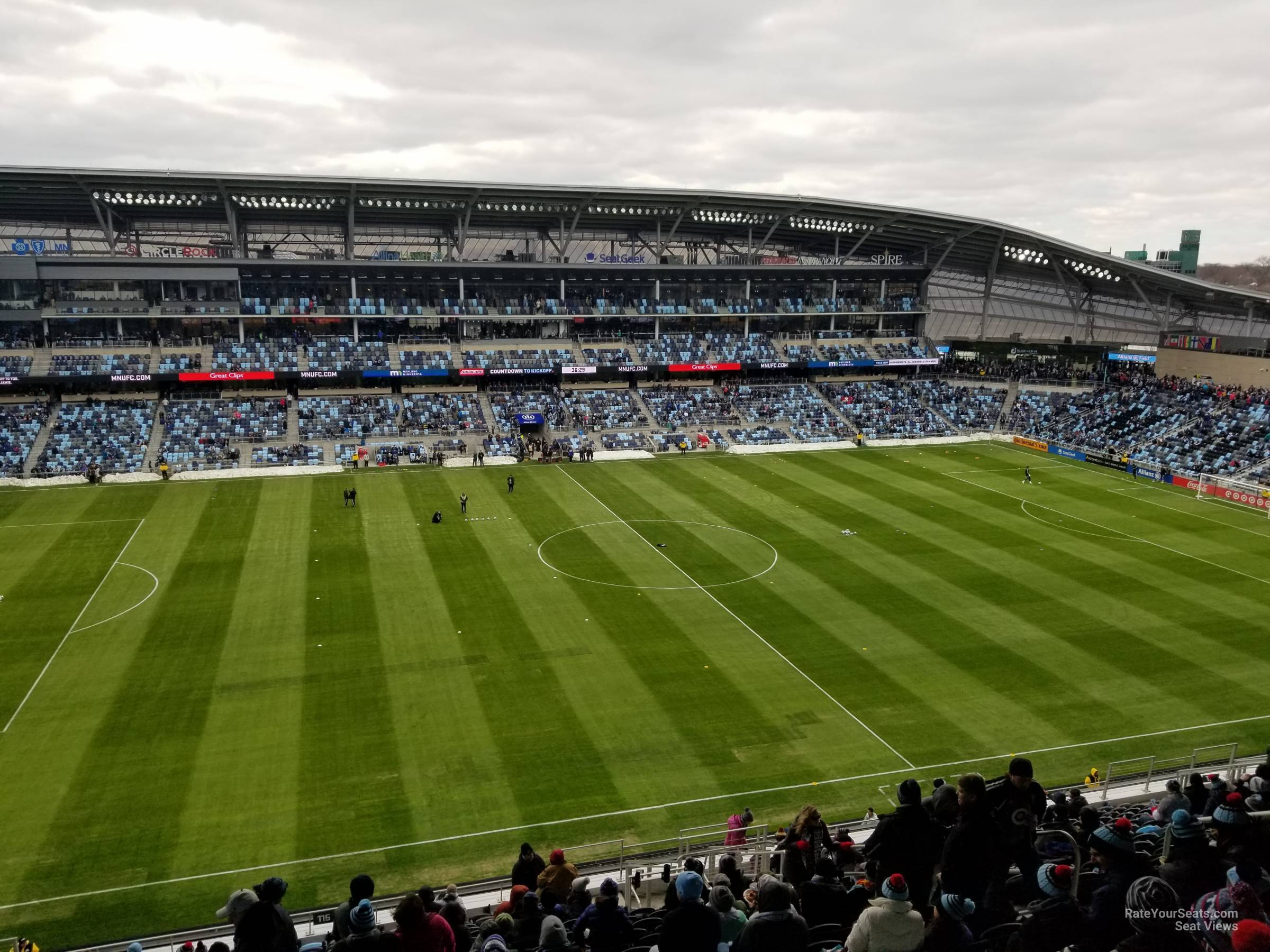 Seat View for Allianz Field Section 115, Row 21