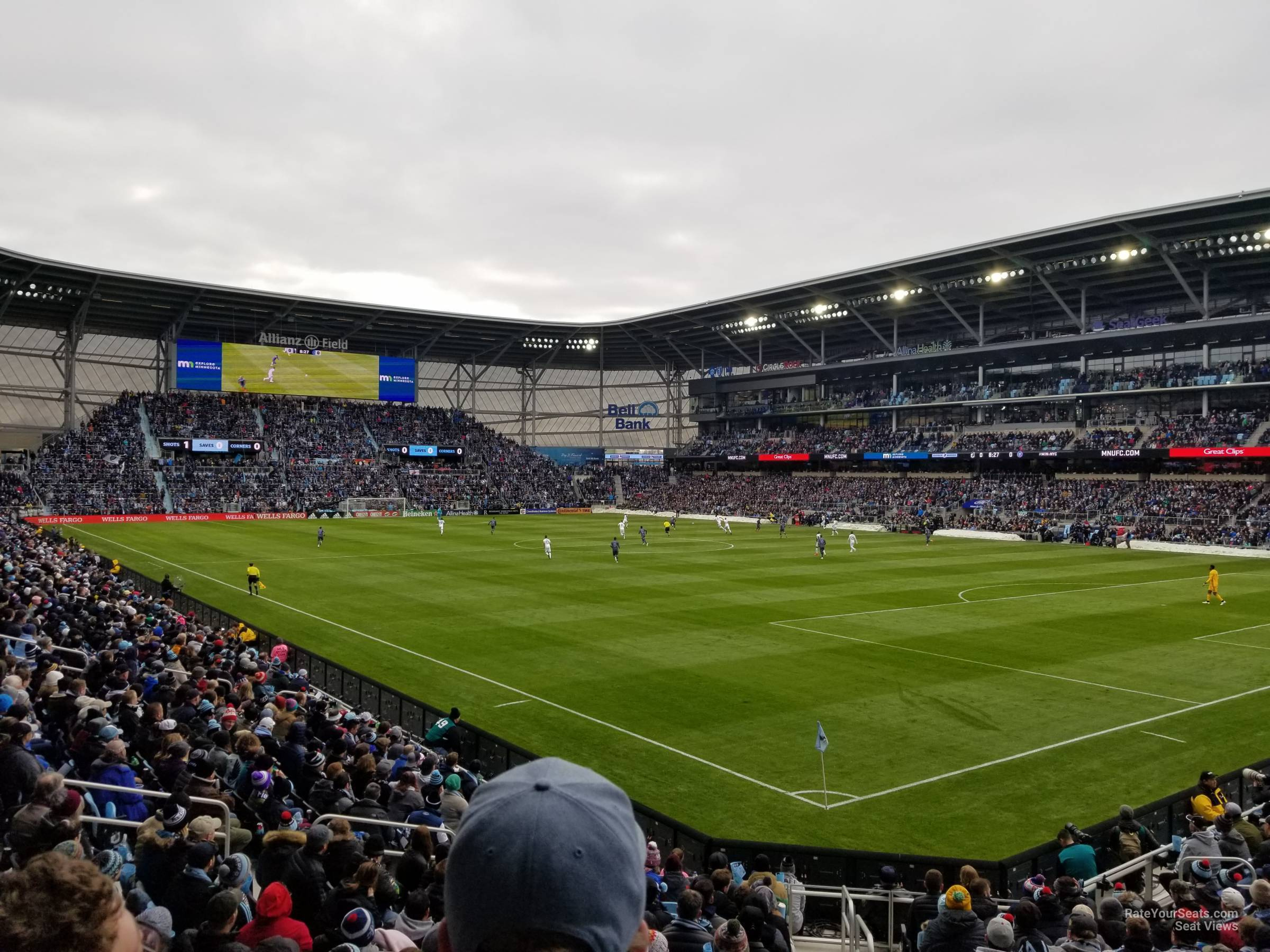 Seat View for Allianz Field Section 8, Row 18