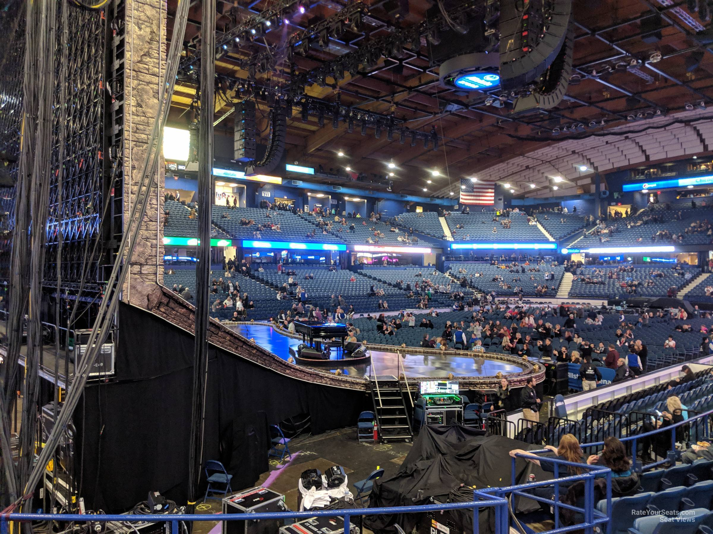 Concert Seat View for Allstate Arena Section 105, Row J