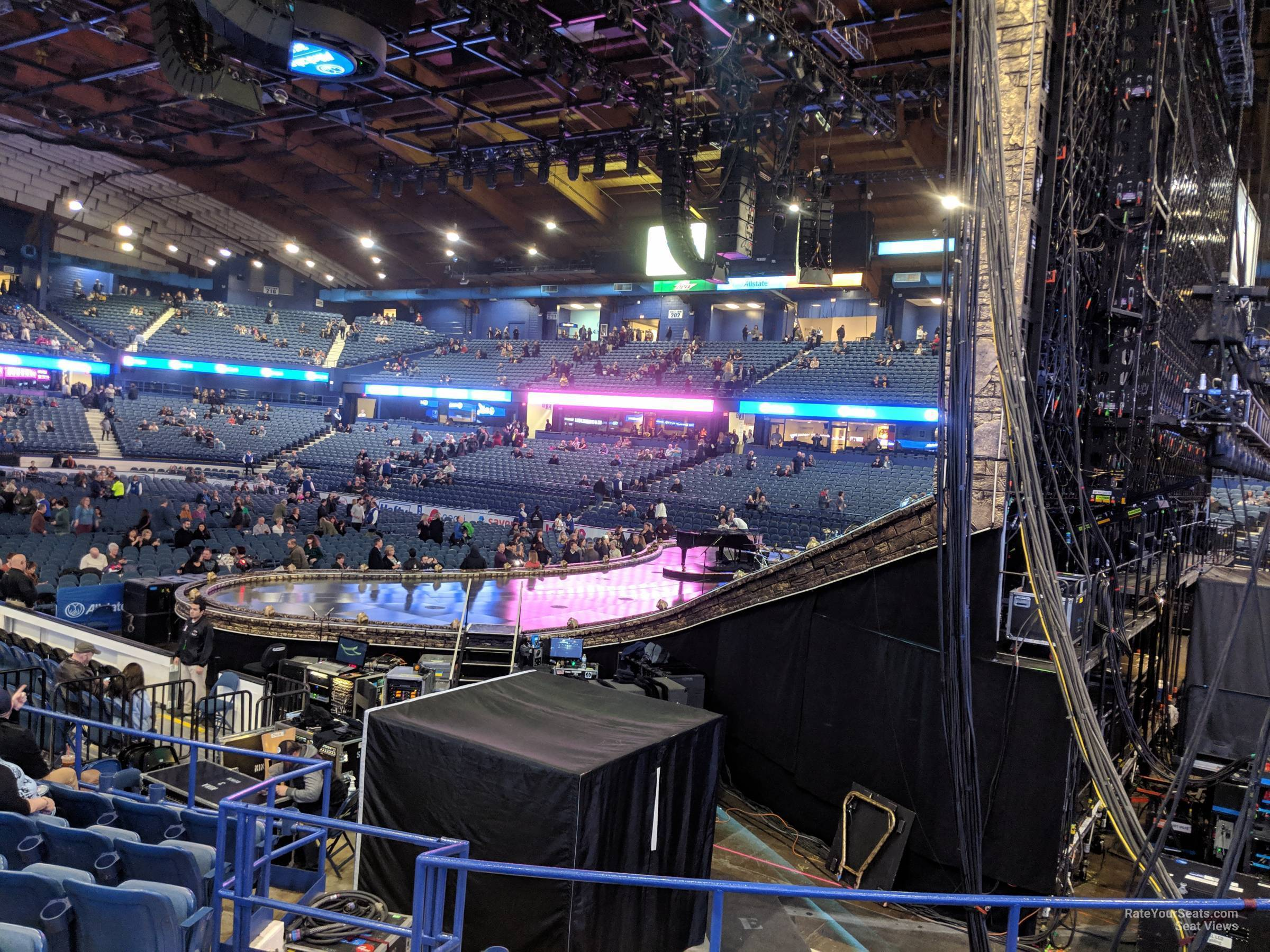 Concert Seat View for Allstate Arena Section 108, Row K