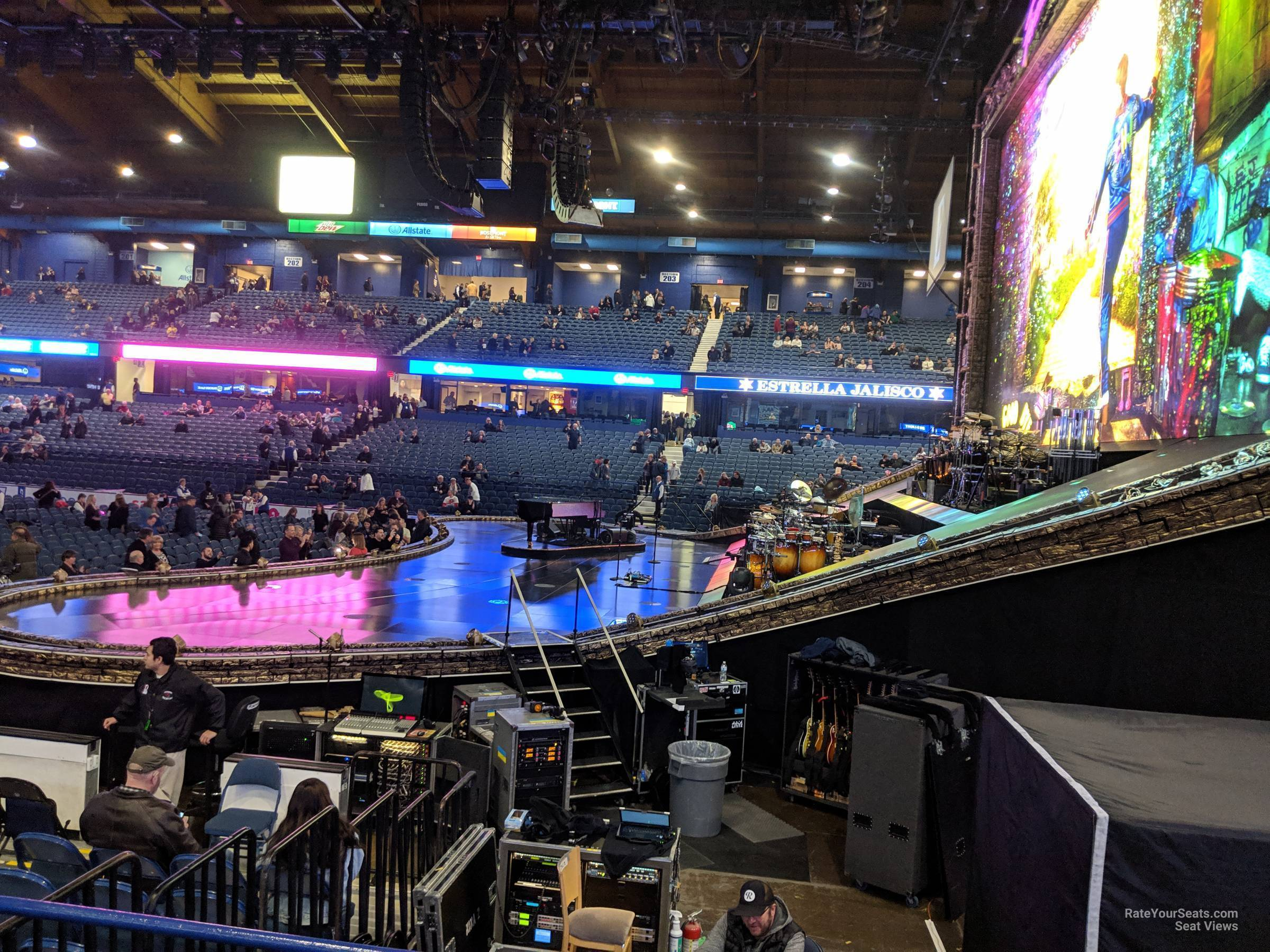 Concert Seat View for Allstate Arena Section 109, Row D