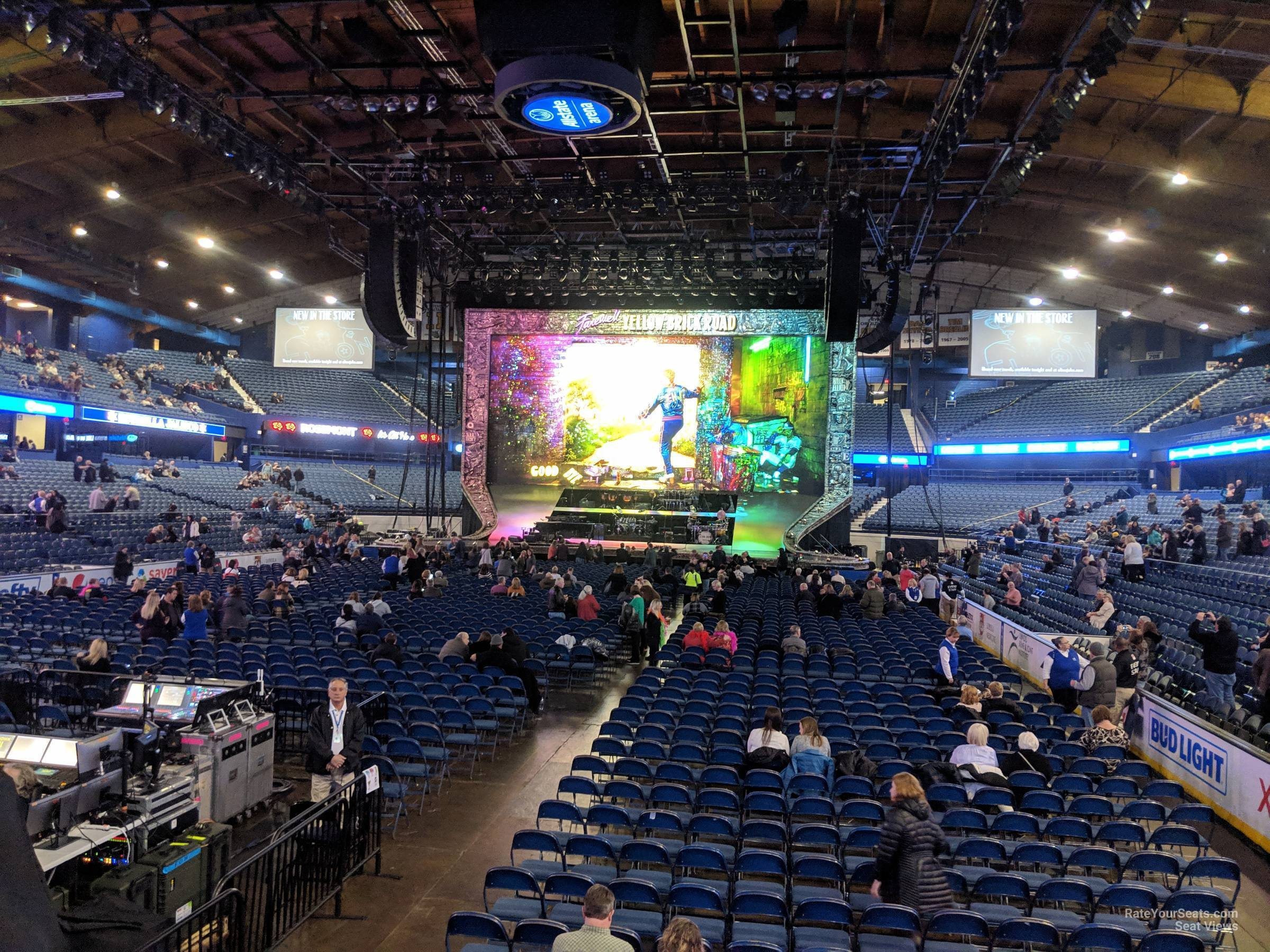 Concert Seat View for Allstate Arena Section 114, Row D