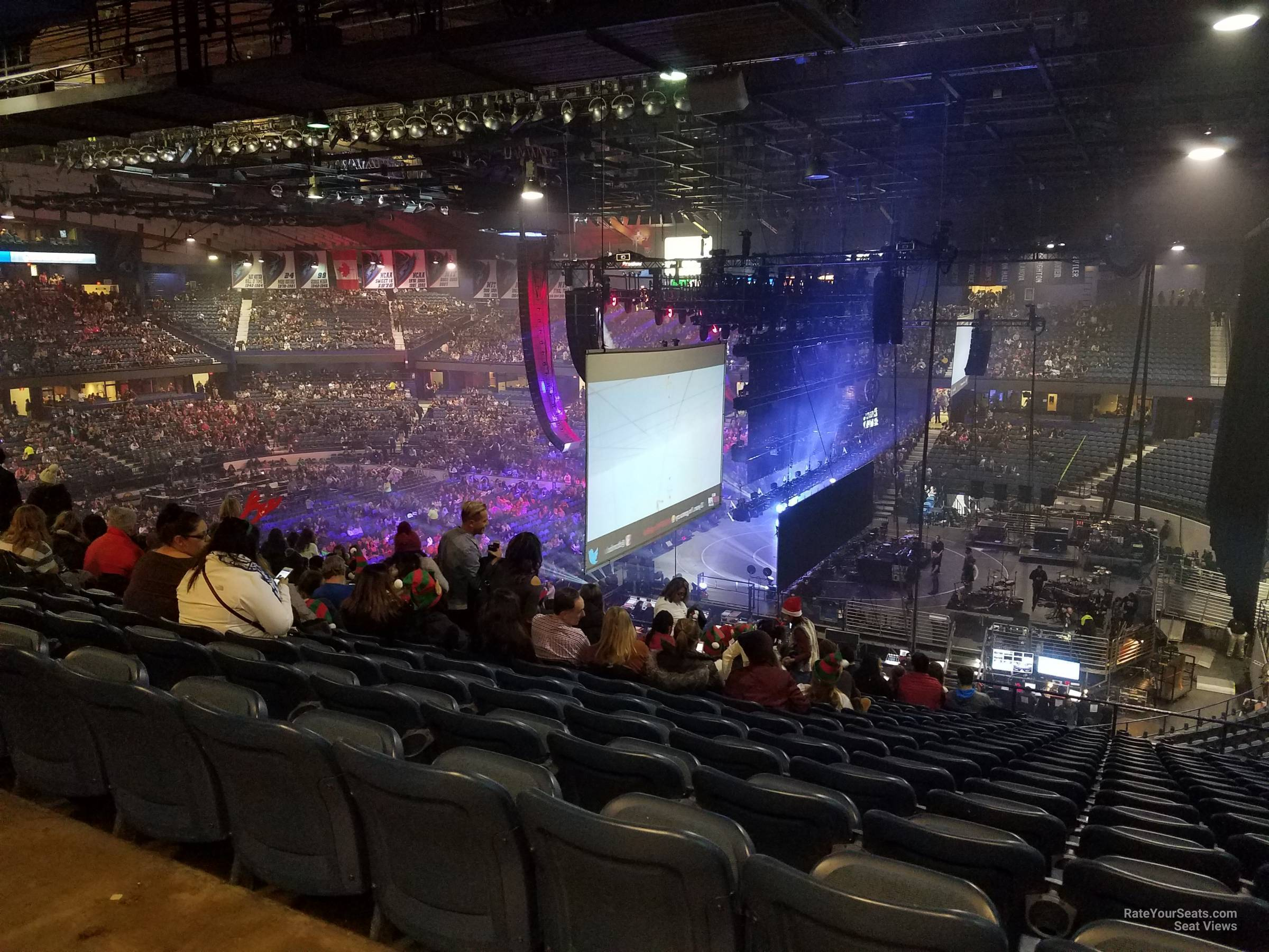 Concert Seat View for Allstate Arena Section 208, Row P