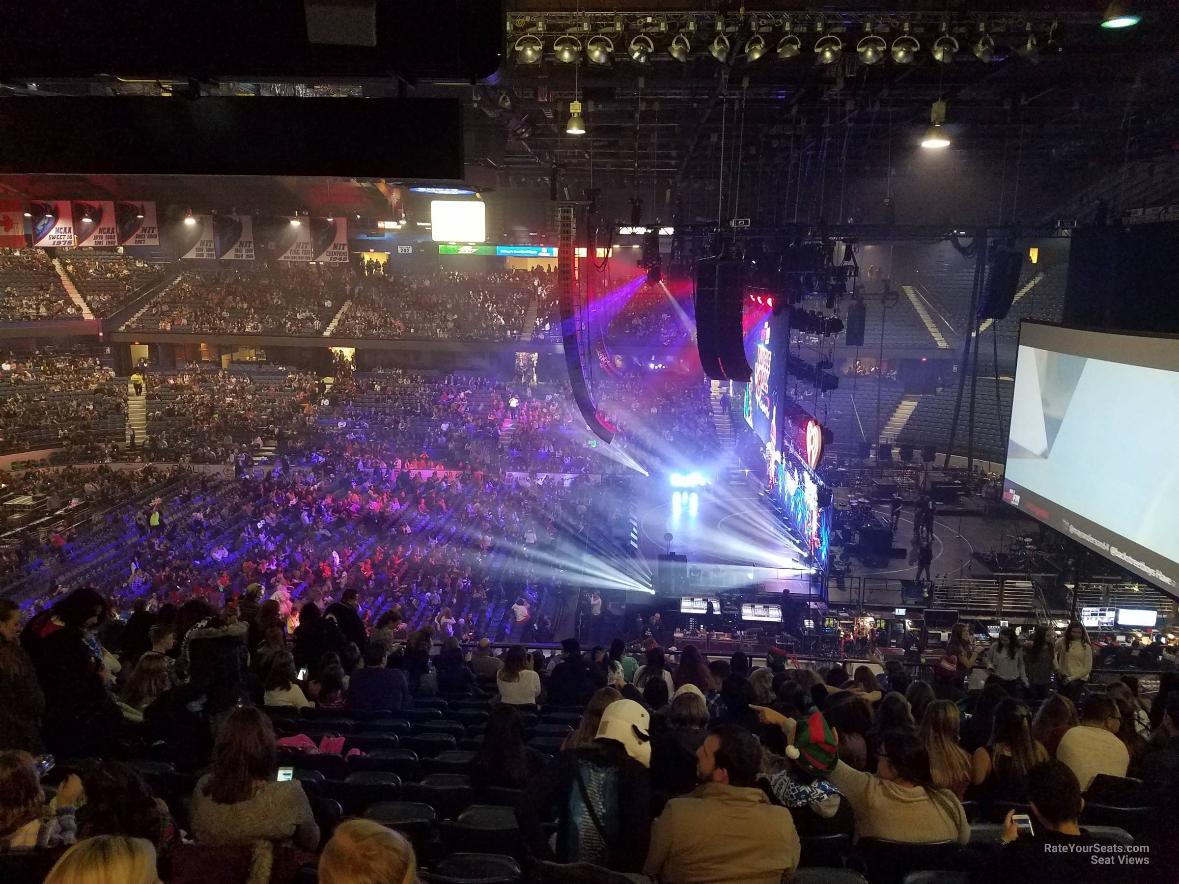 Allstate Arena Concert Section 210 Row P on 12 14 2016 FL