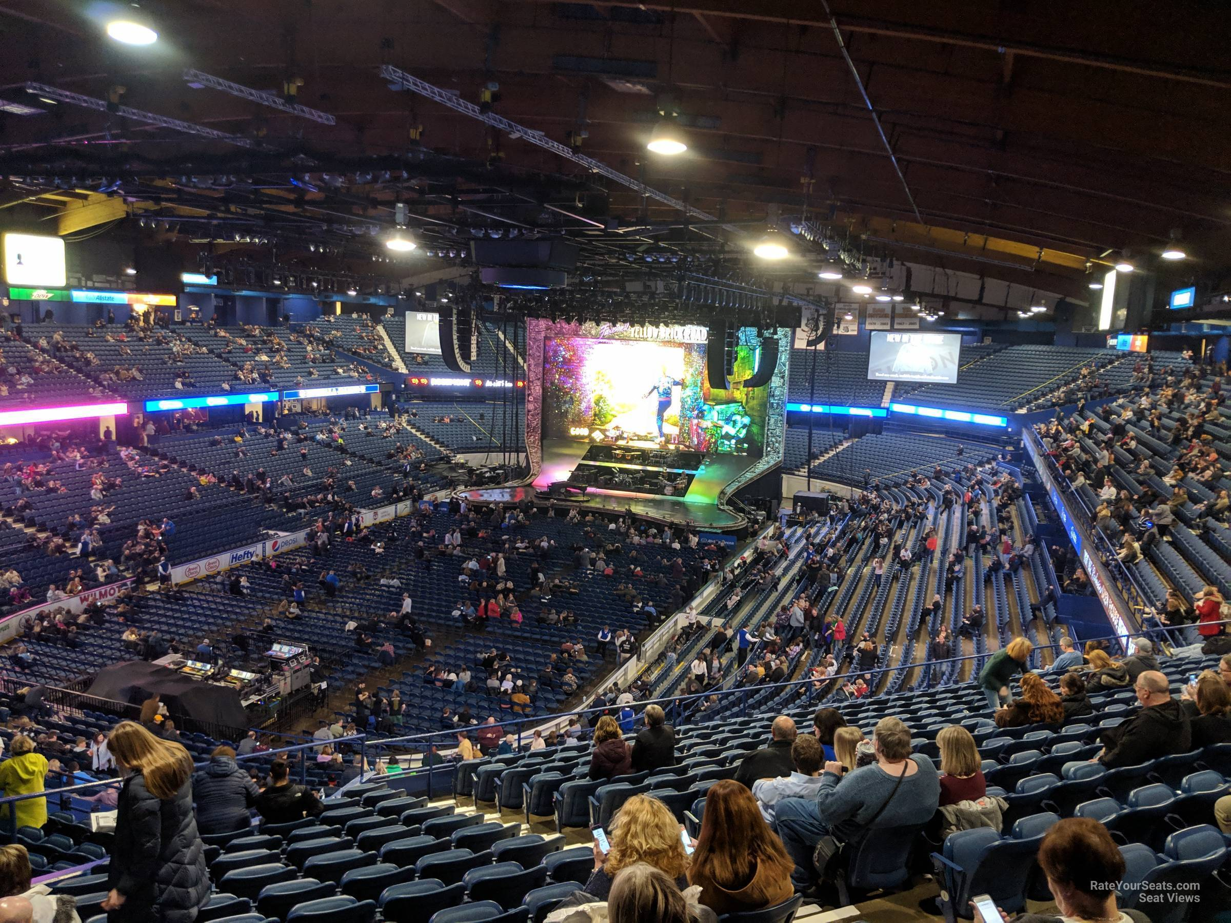 Concert Seat View for Allstate Arena Section 213, Row Q