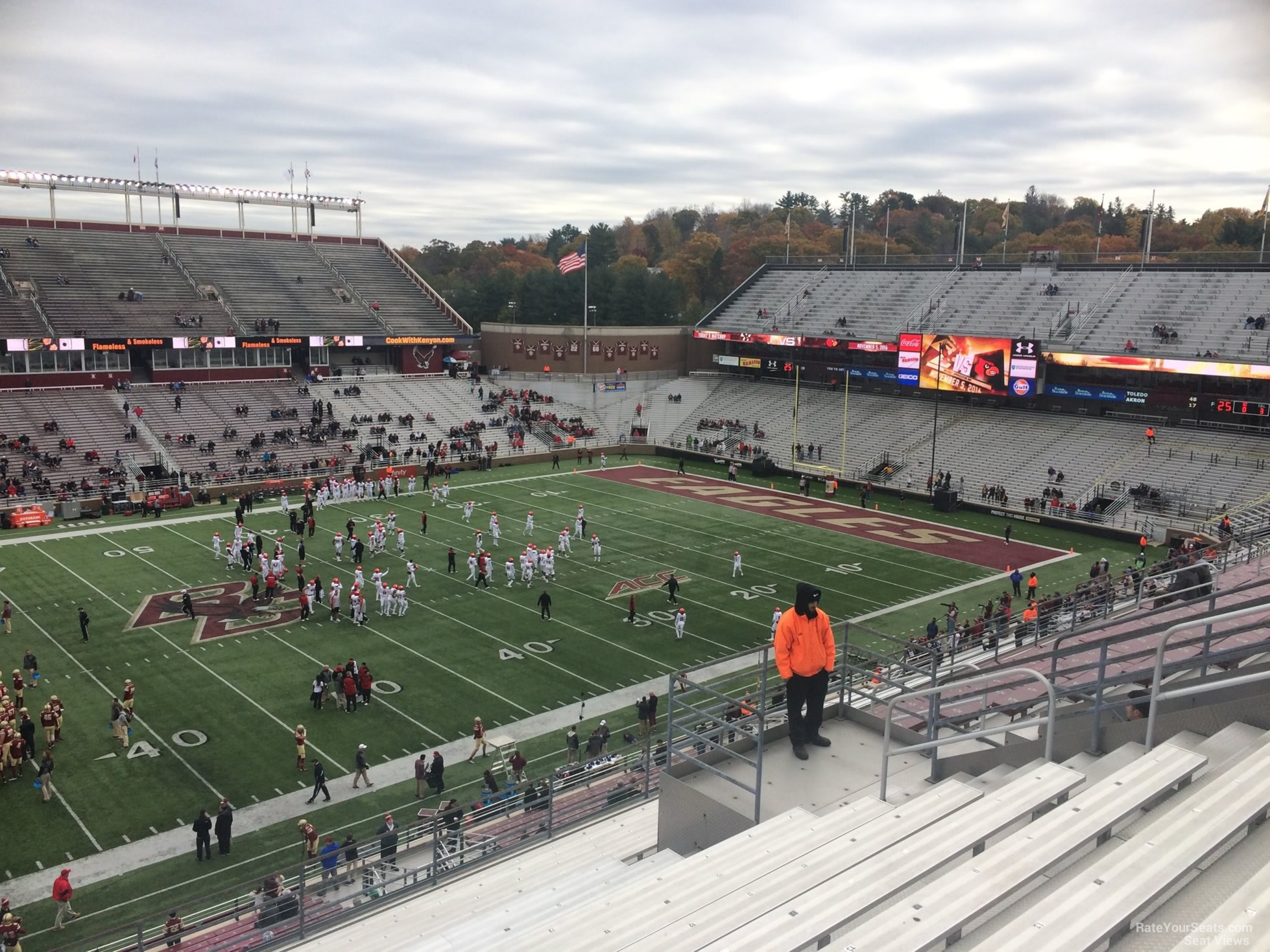 Seat View for Alumni Stadium Section CC, Row 15