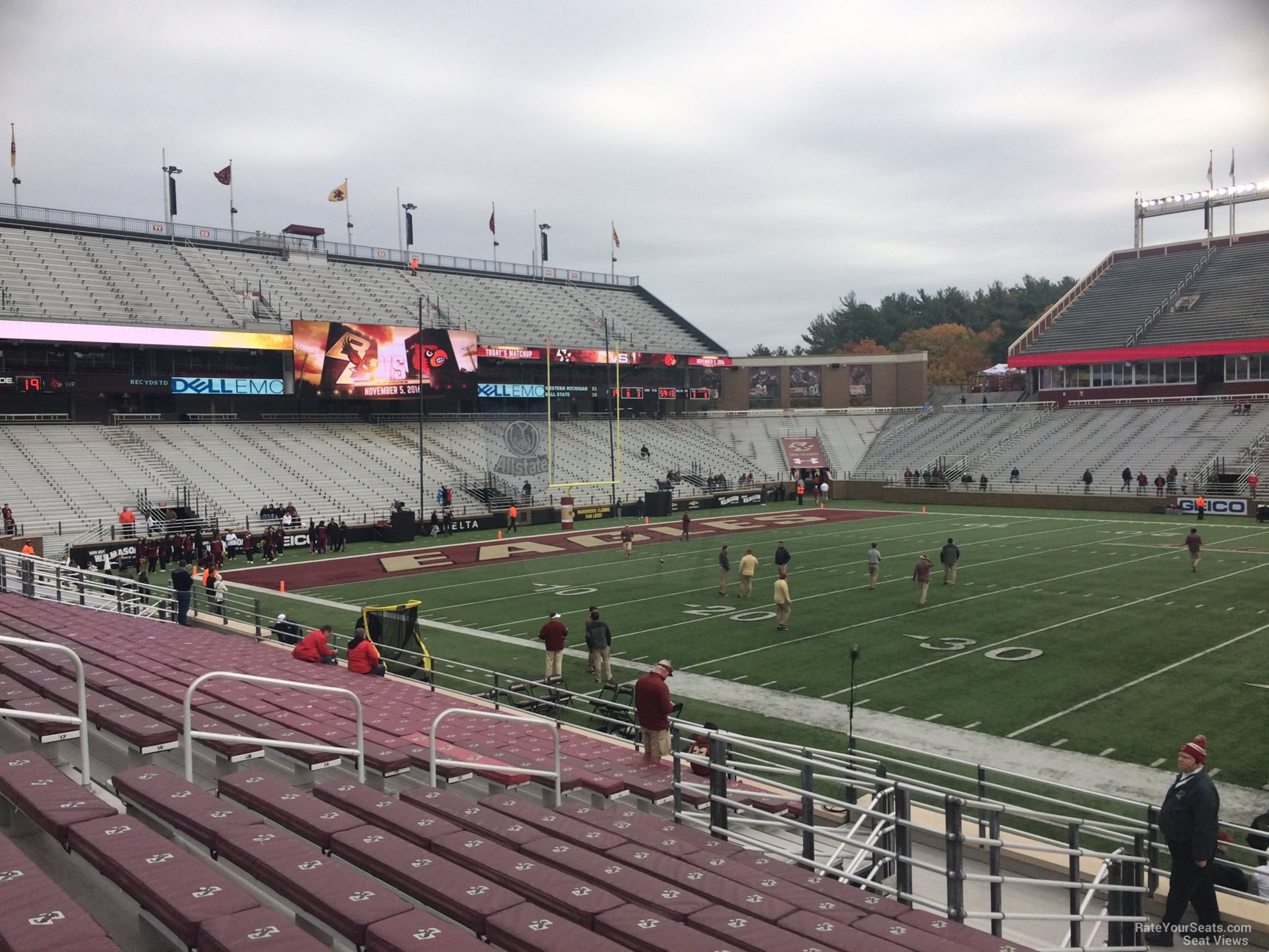 Seat View for Alumni Stadium Section D, Row 20