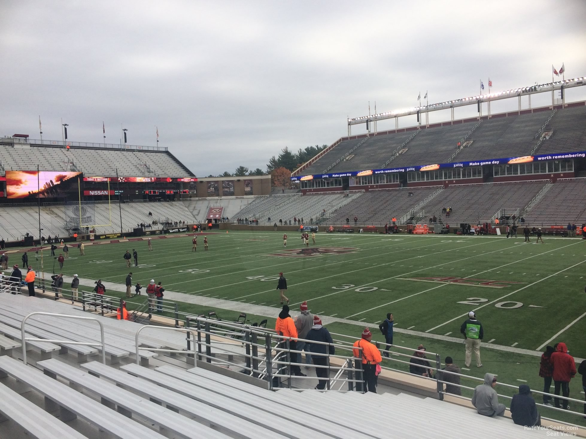 Seat View for Alumni Stadium Section F, Row 20
