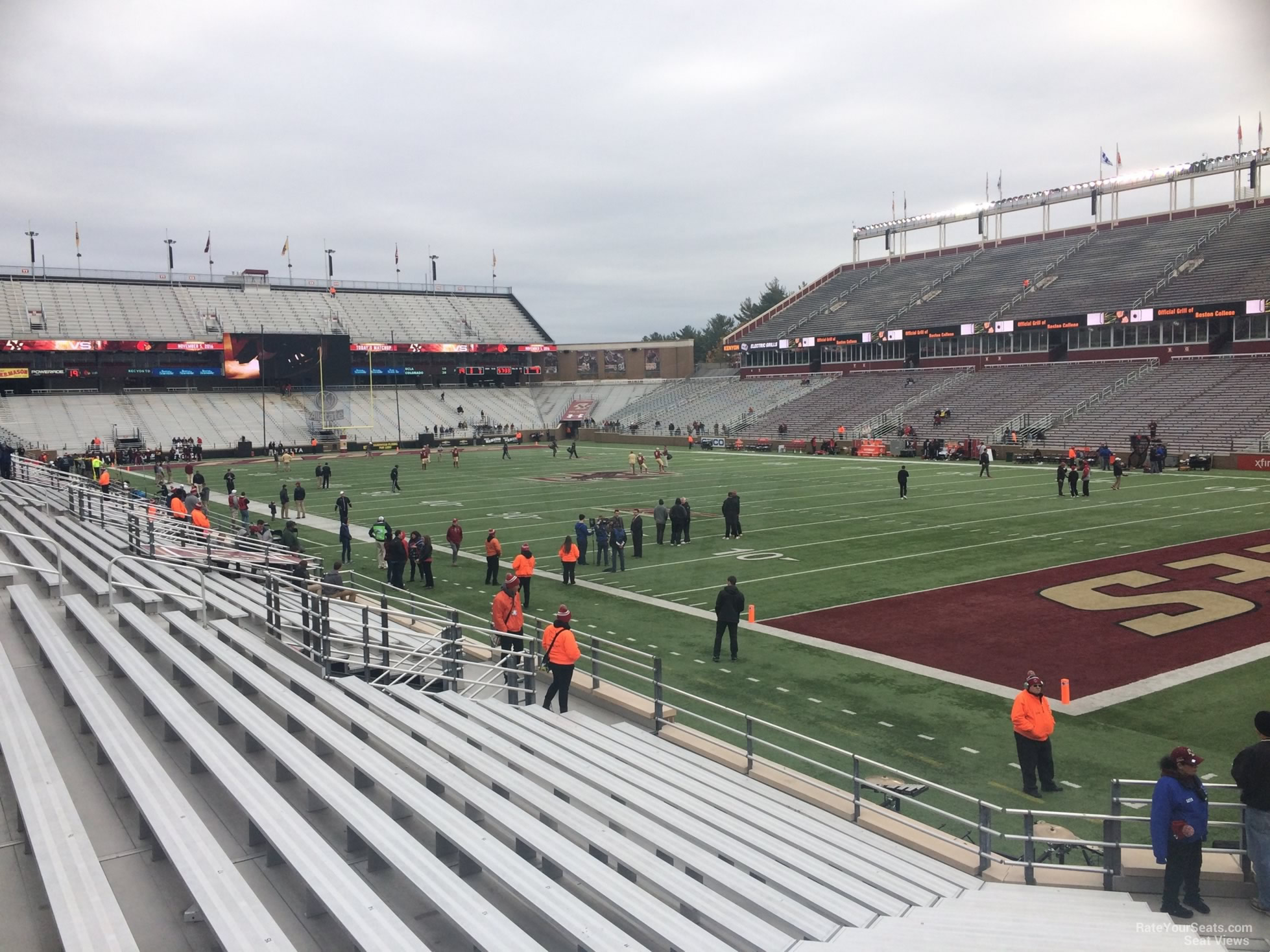 Seat View for Alumni Stadium Section G, Row 20