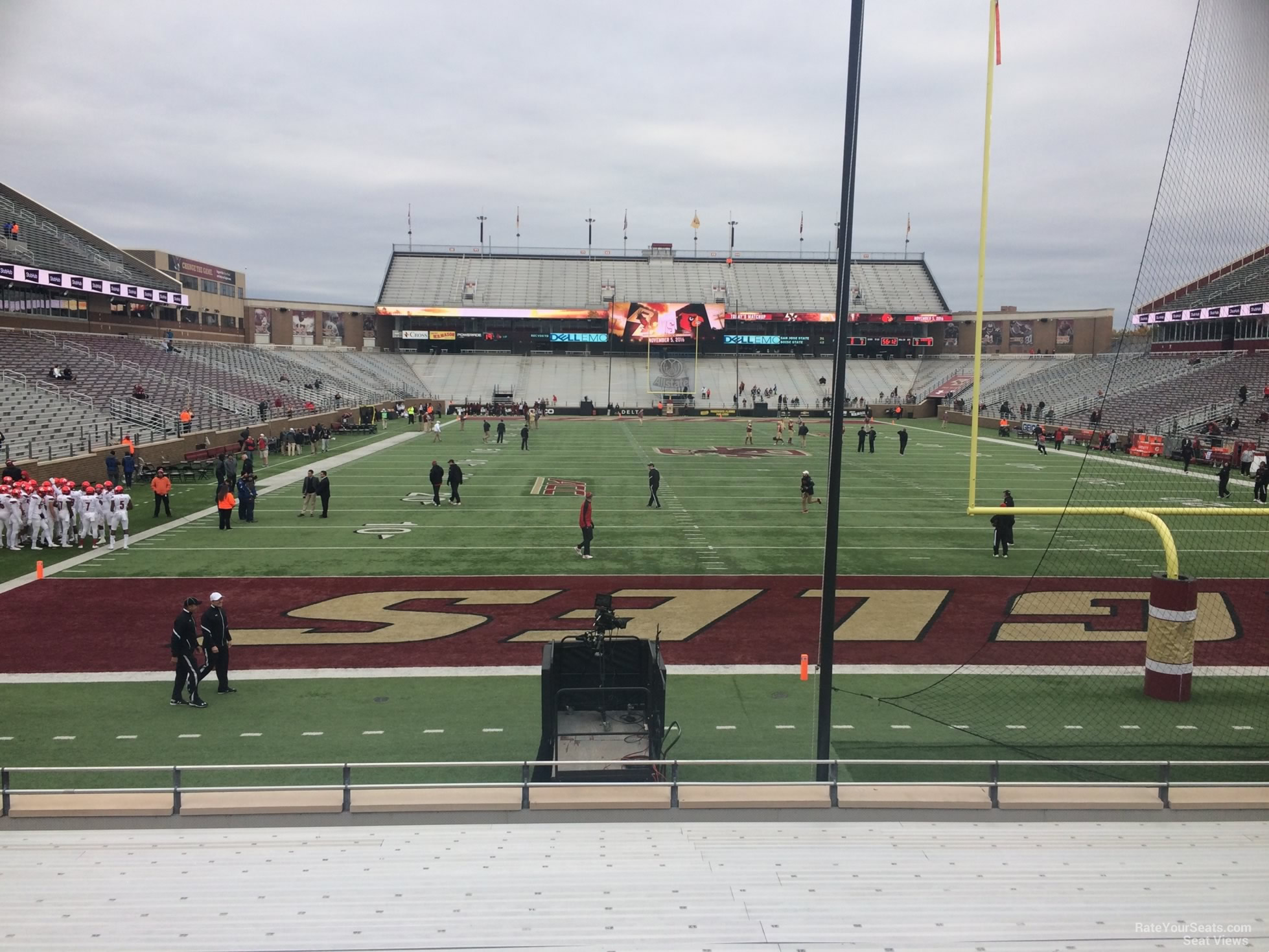Seat View for Alumni Stadium Section J, Row 20