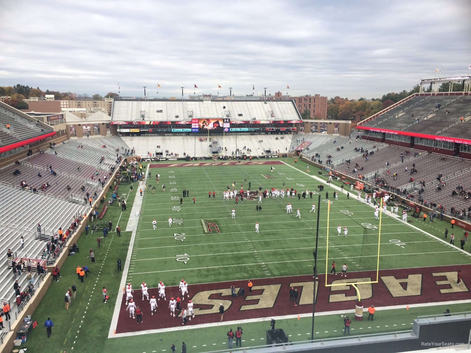 Seat View for Alumni Stadium Section JJ, Row 15