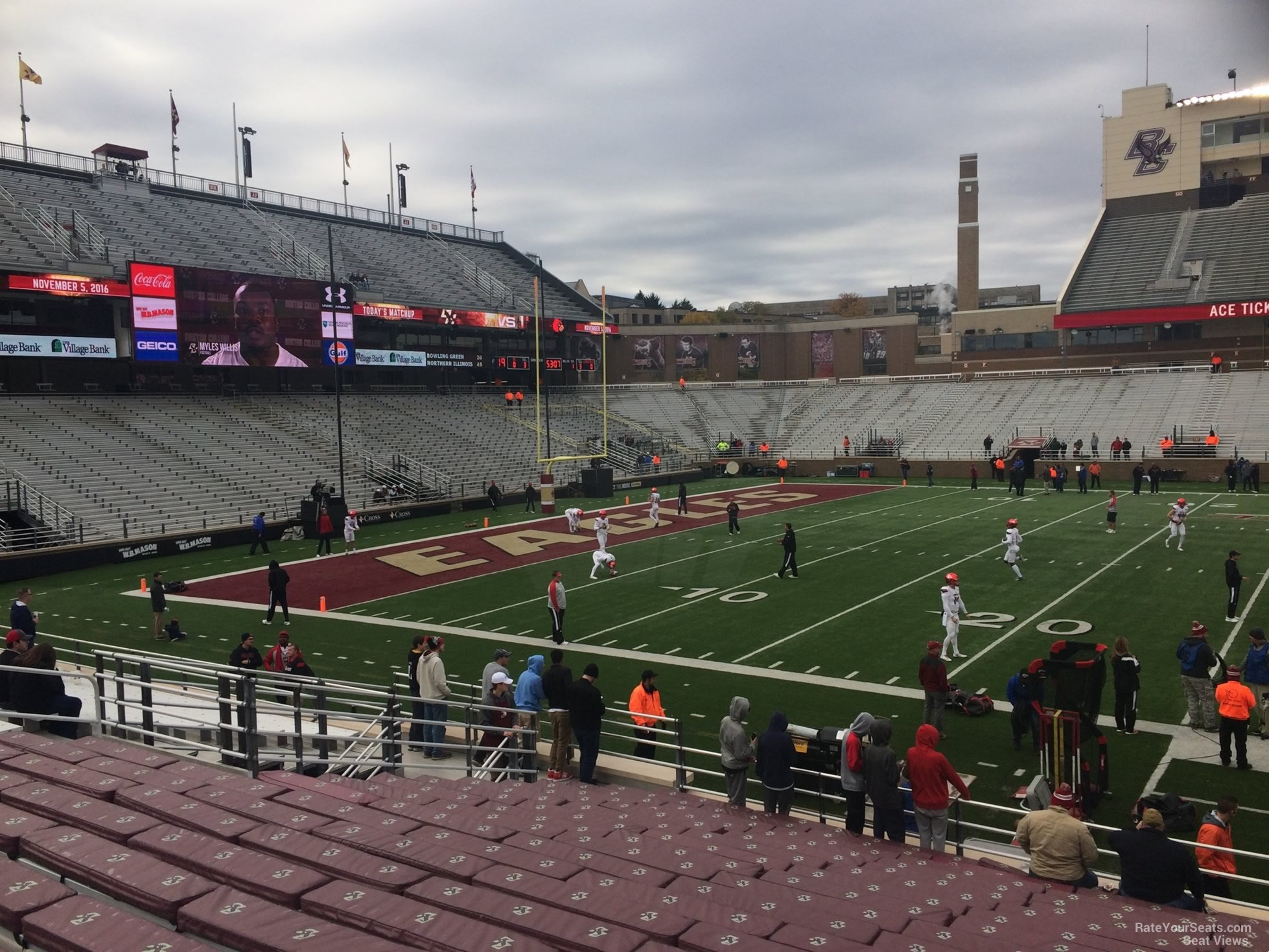 Seat View for Alumni Stadium Section Q, Row 20