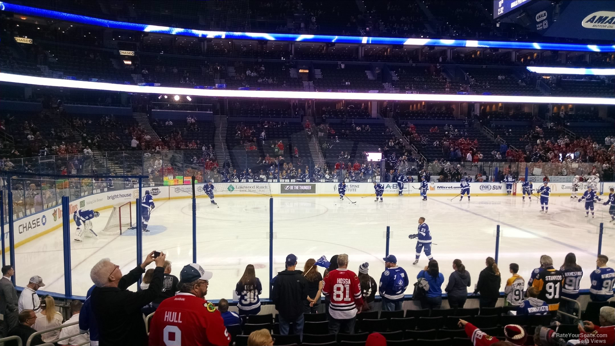 Seat View for Amalie Arena Section 103, Row M