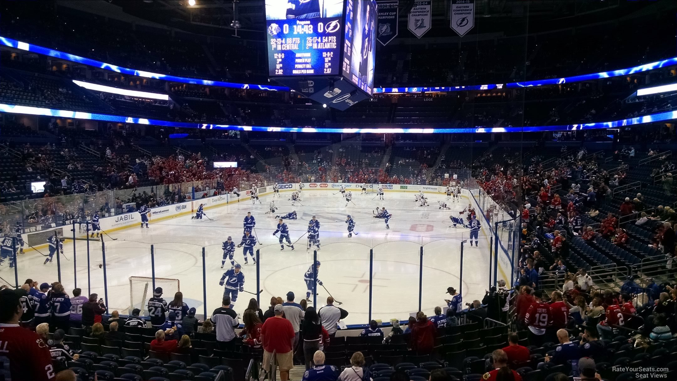 Seat View for Amalie Arena Section 106
