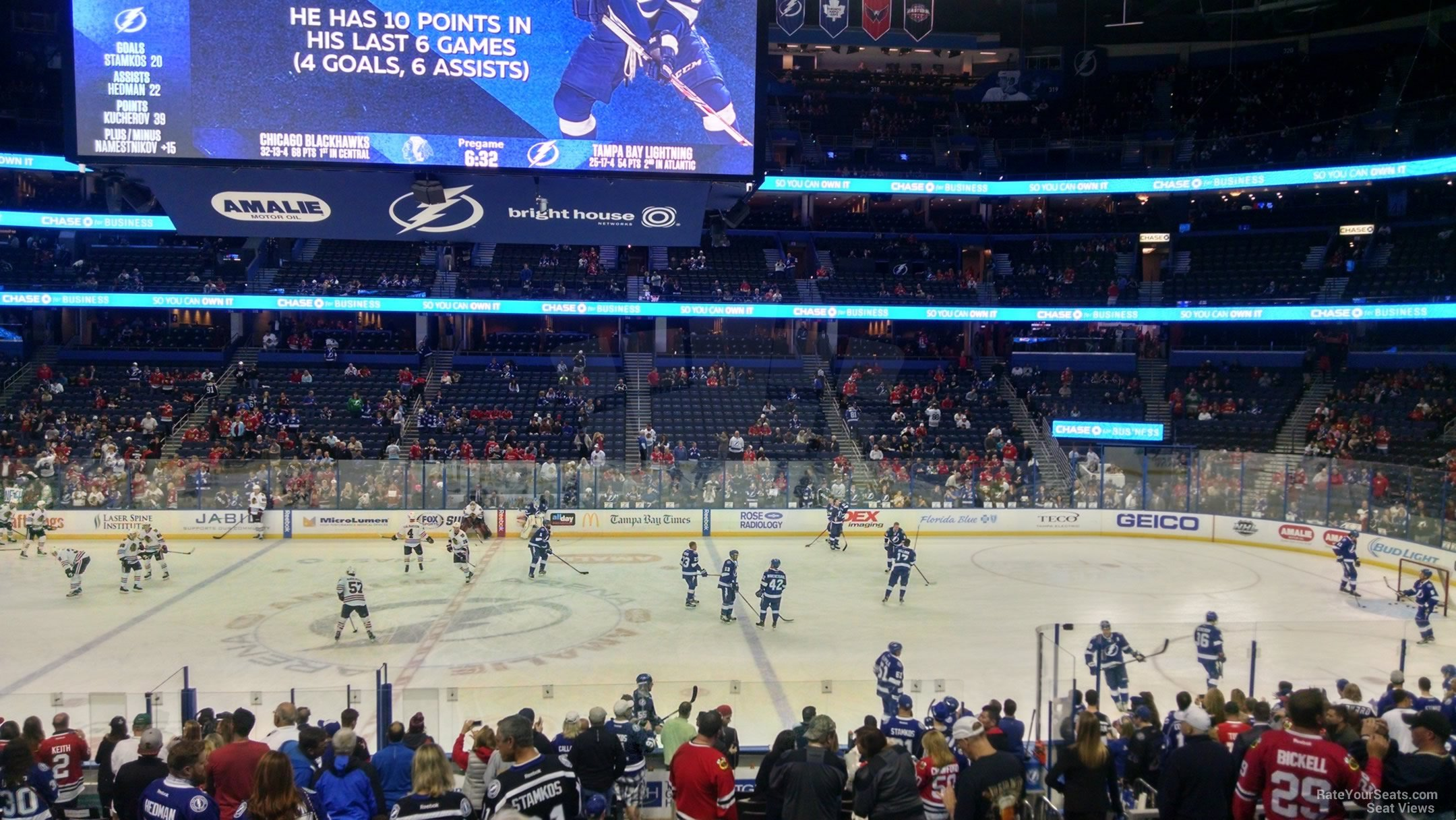 791233f7737 Amalie Arena Section 115 - Tampa Bay Lightning - RateYourSeats.com