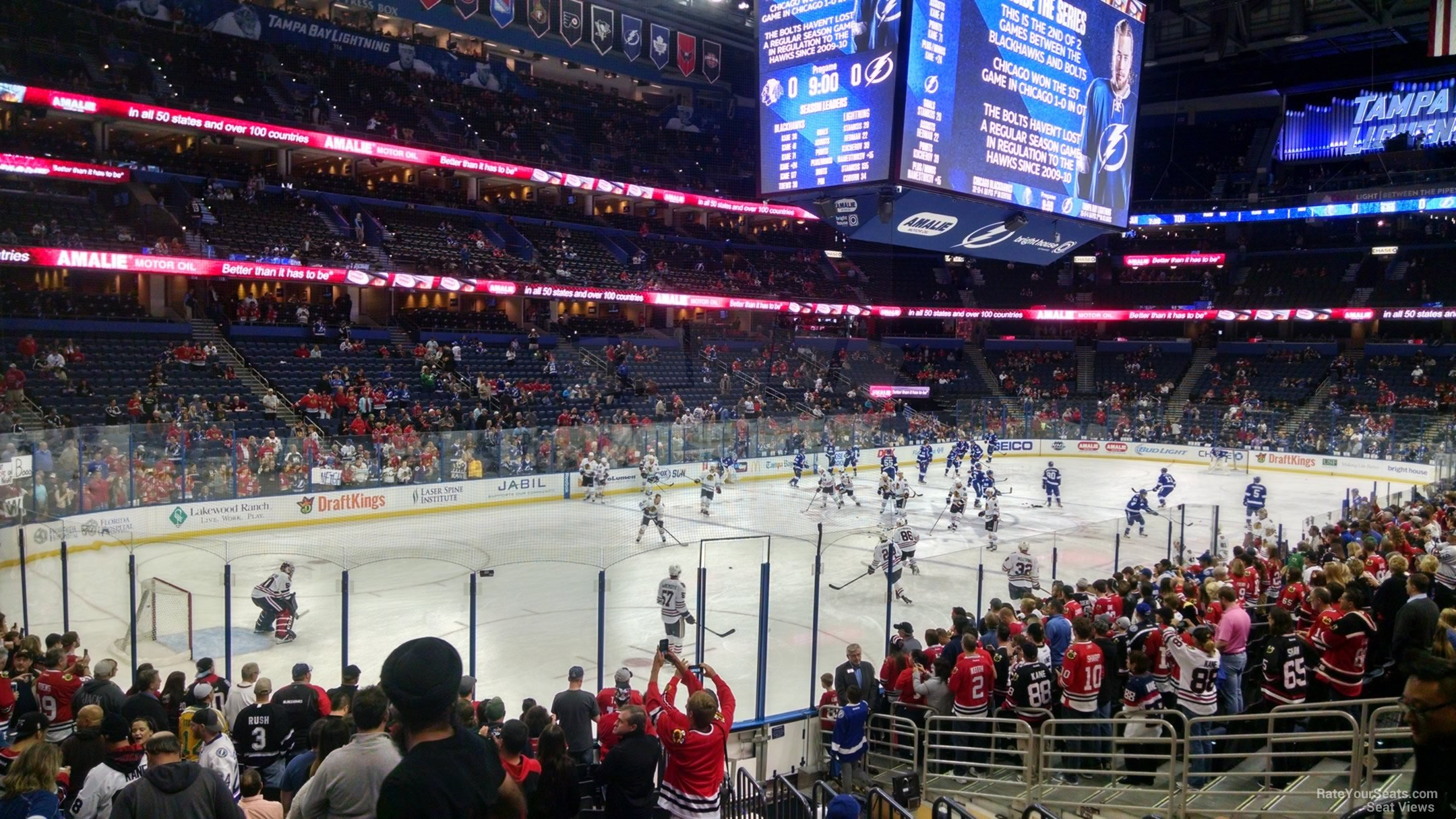 Seat View for Amalie Arena Section 120, Row S