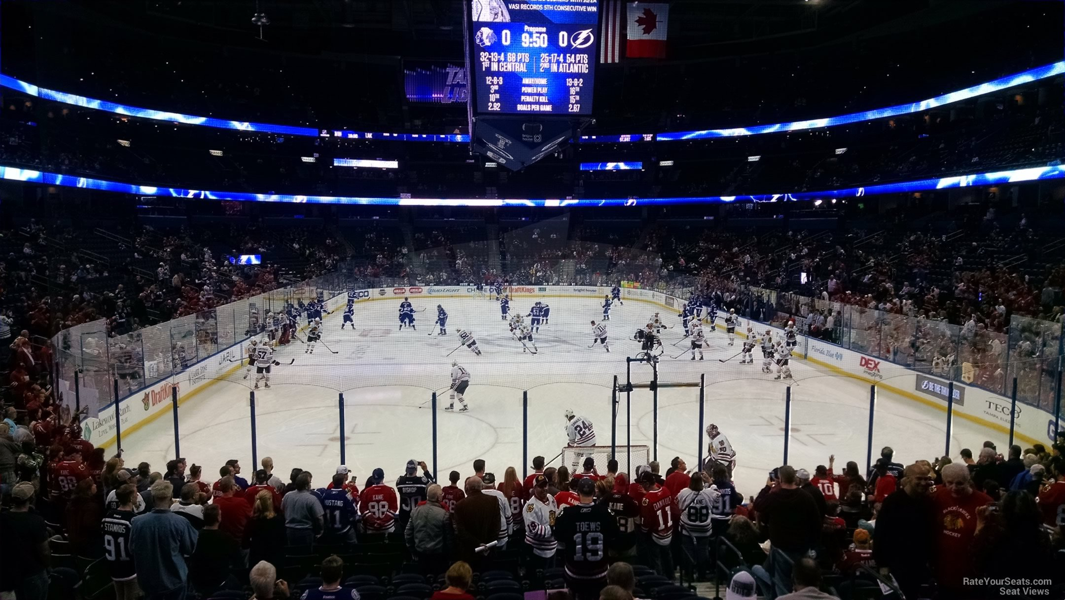 Seat View for Amalie Arena Section 124, Row V