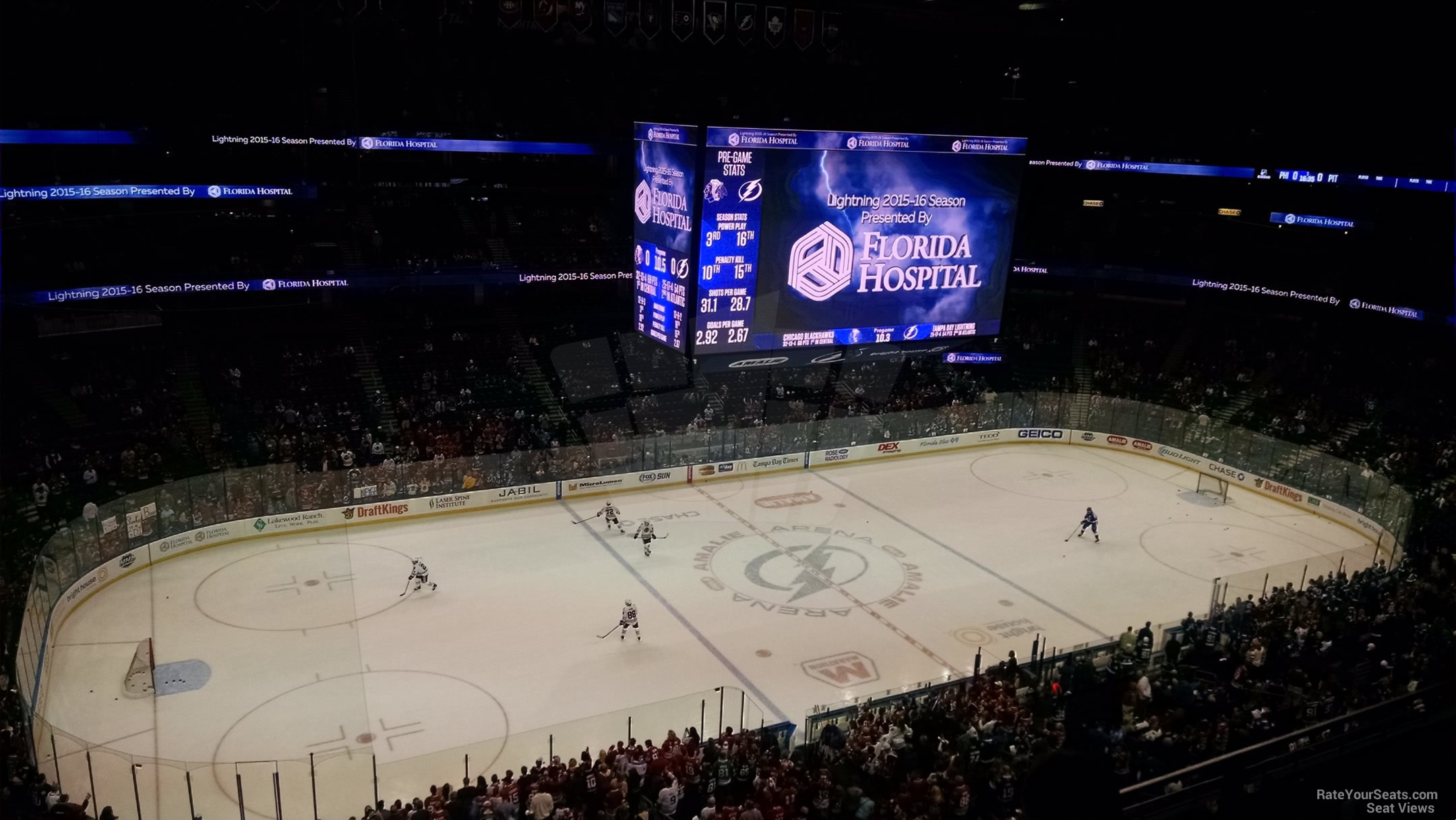 Seat View for Amalie Arena Section 304, Row C
