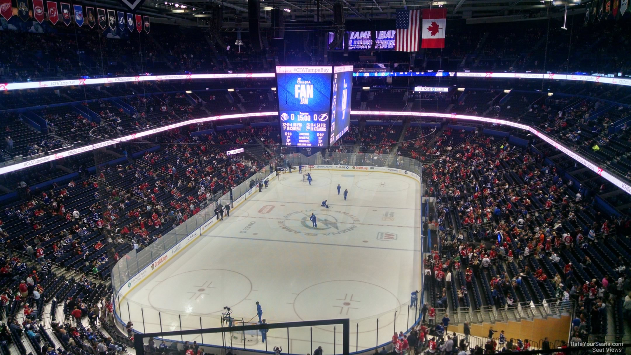 Seat View for Amalie Arena Section 307