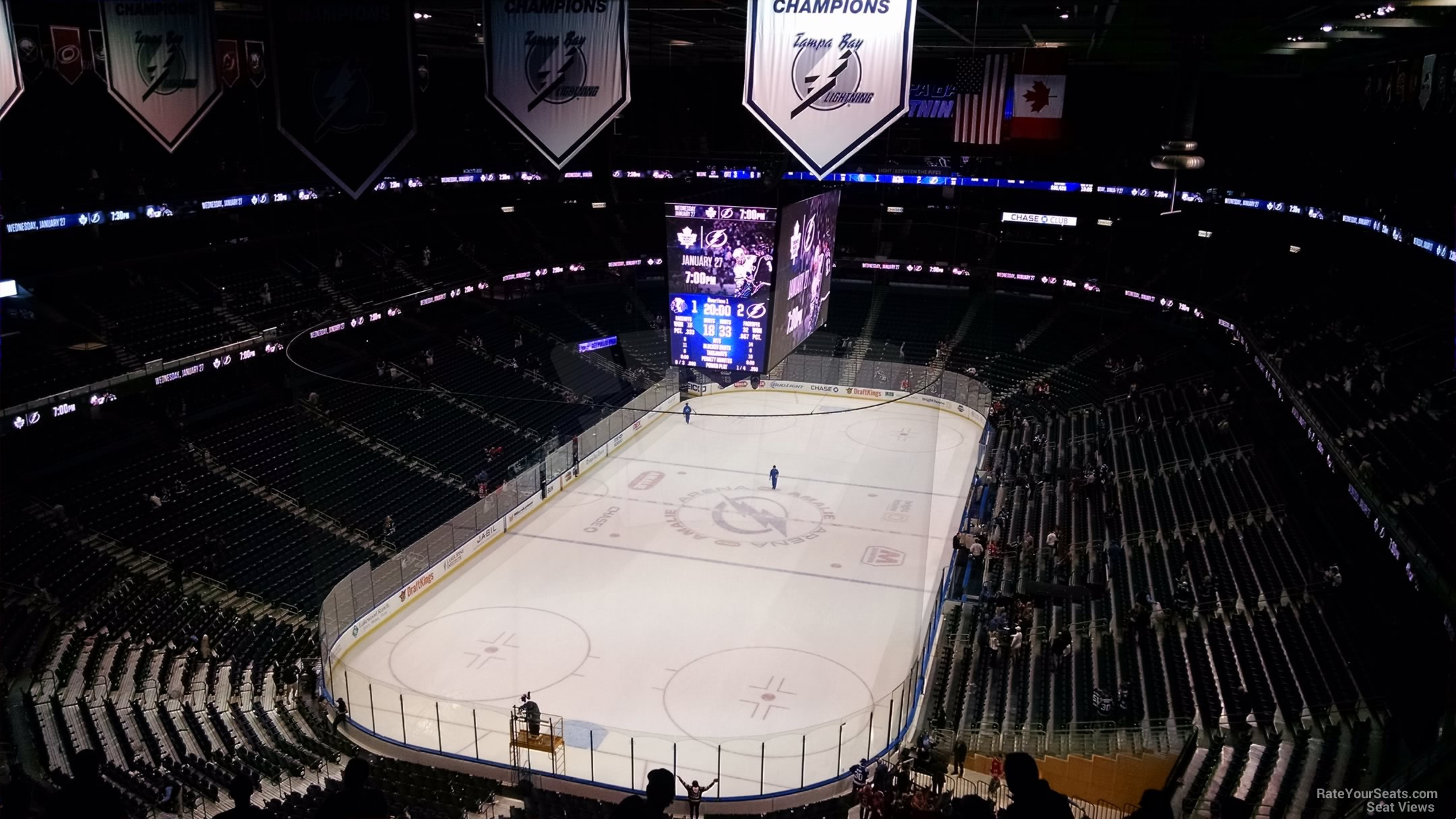 Amalie Arena Section 307 Row R on 1 21 2016k