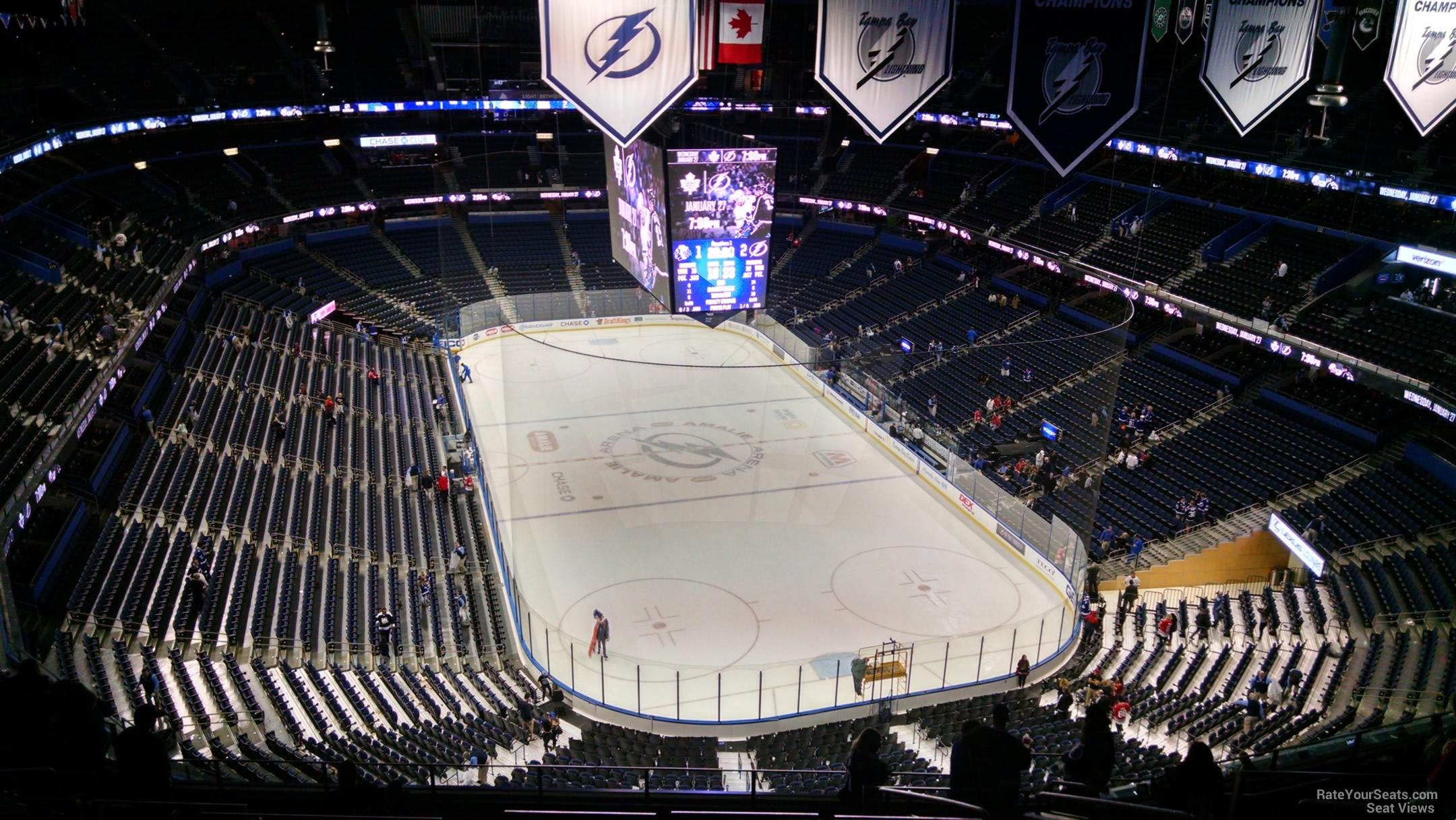 Seat View for Amalie Arena Section 310, Row R