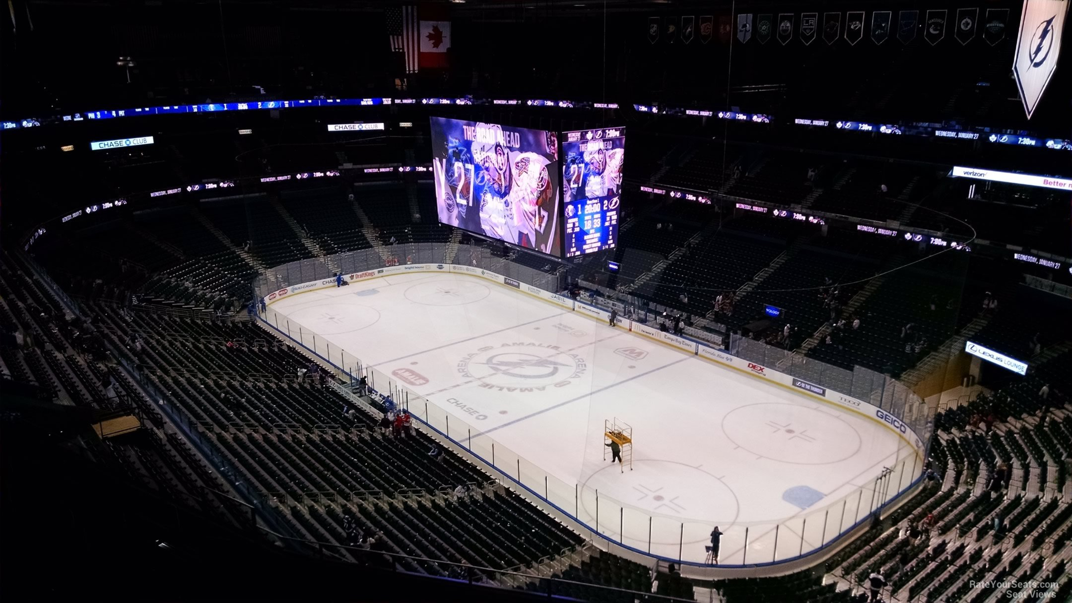 Seat View for Amalie Arena Section 312, Row R