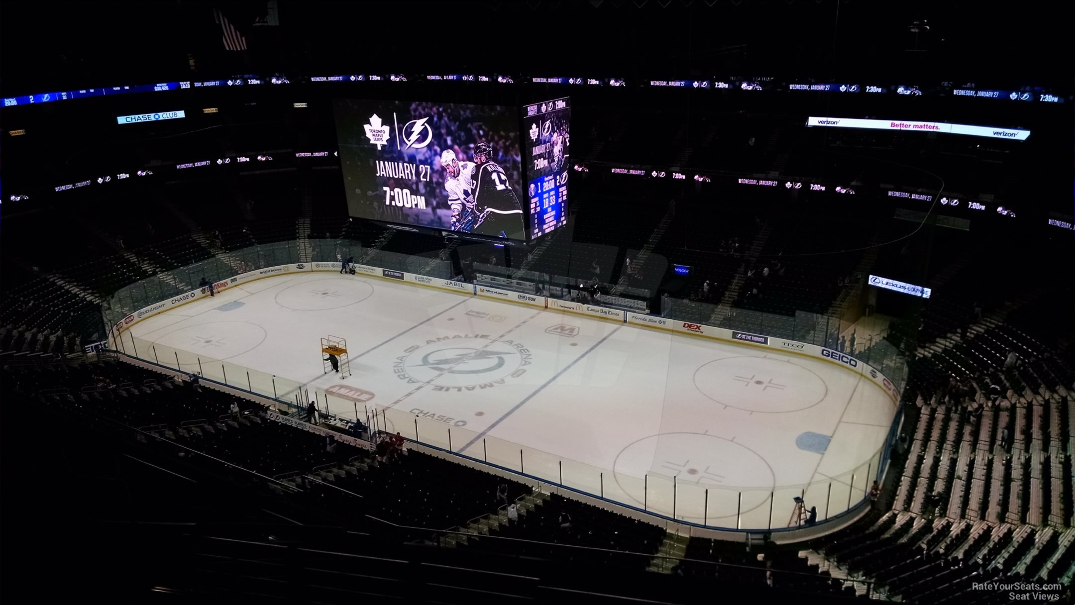 Seat View for Amalie Arena Section 313, Row M