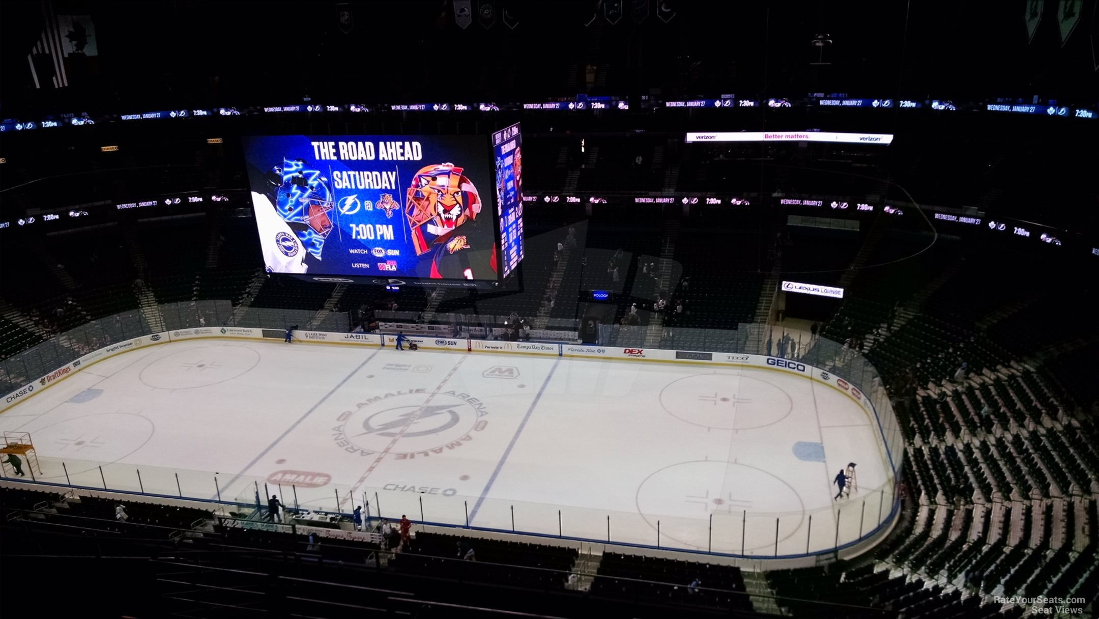 Seat View for Amalie Arena Section 314, Row M