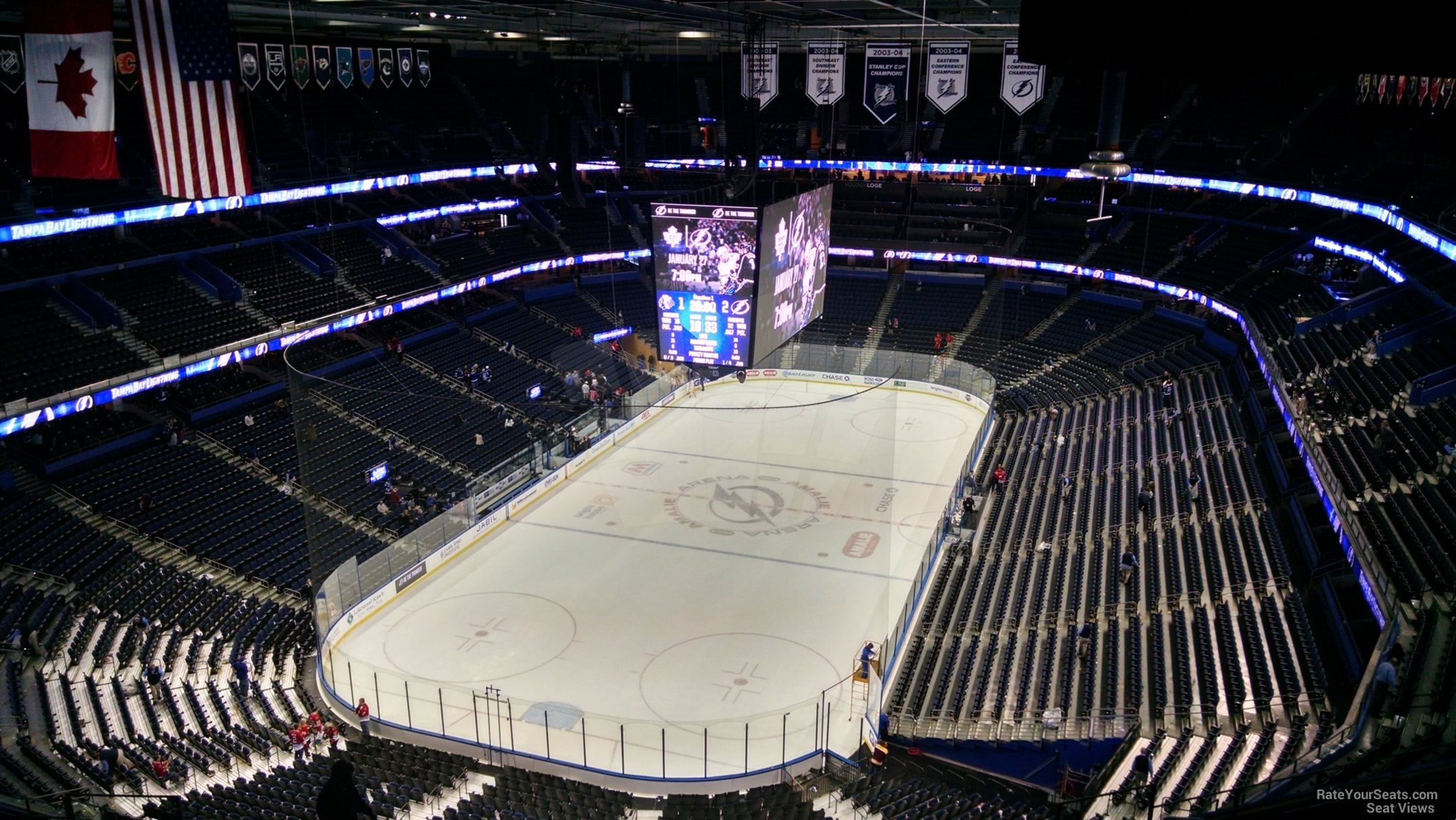 Seat View for Amalie Arena Section 322